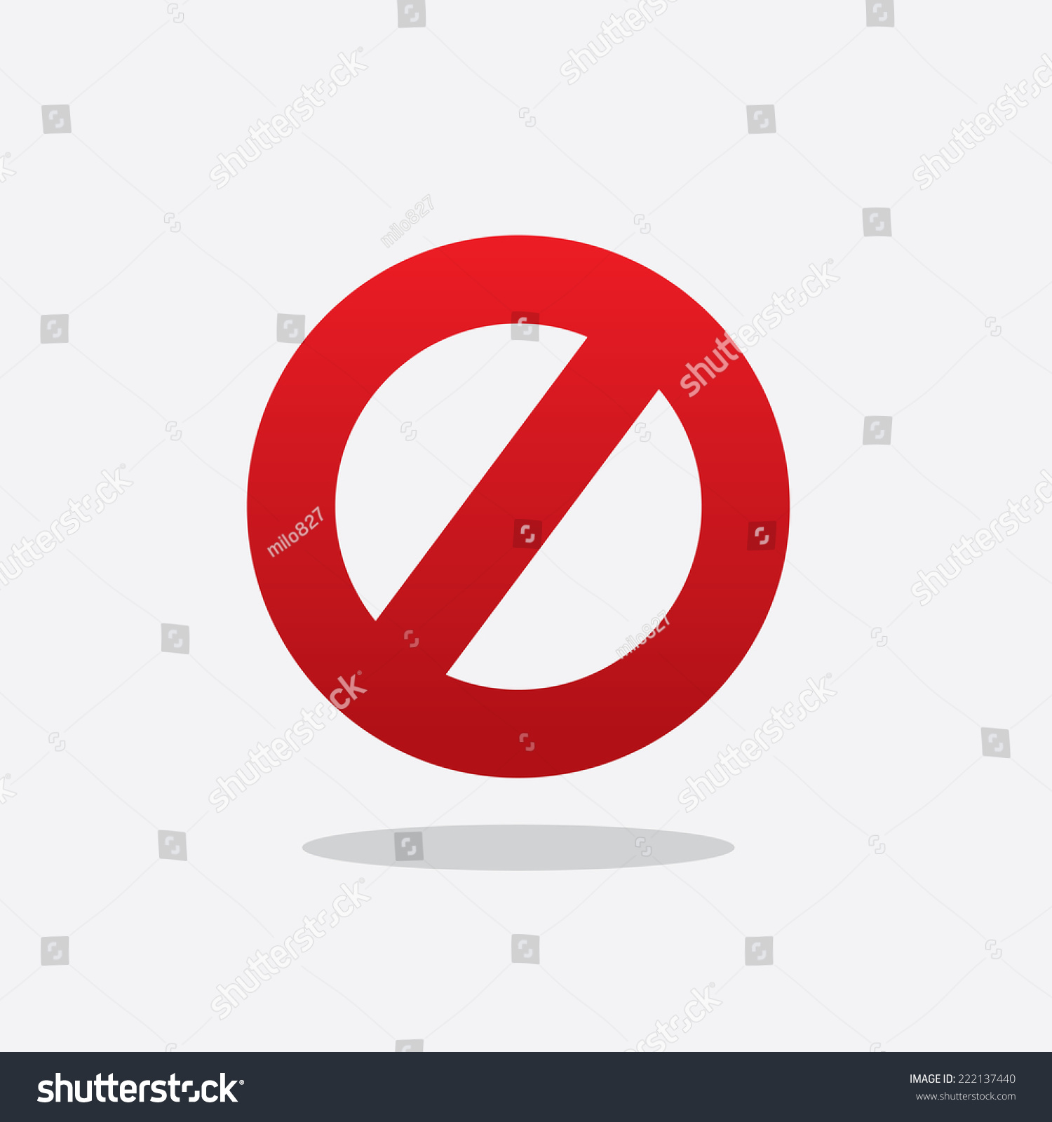 Floating Red Cross Out Do Not Stock Vector Royalty Free 222137440