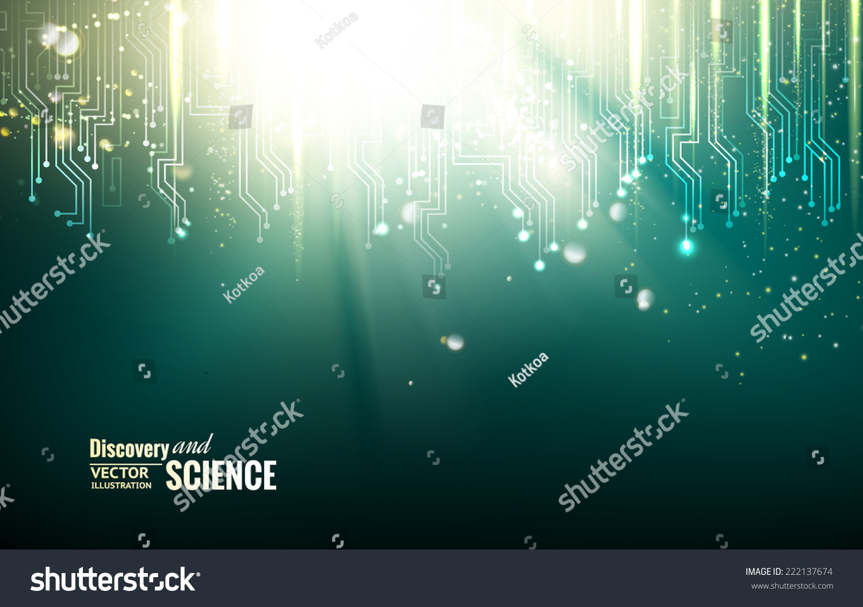 Circuit Blue Lights Background Vector Illustration Stock Board Image 45284500