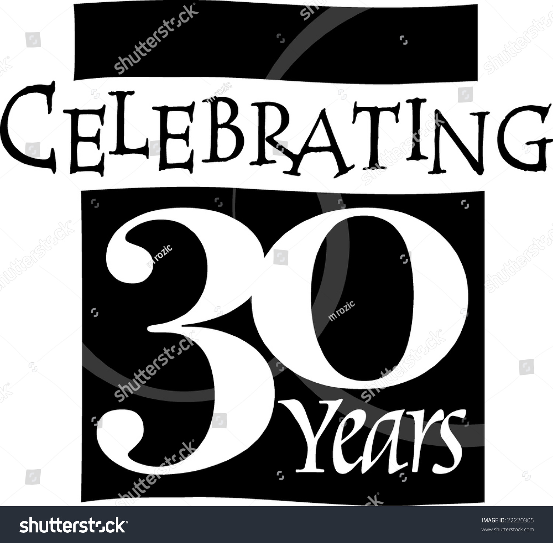 Thirty year anniversary banner stock vector illustration