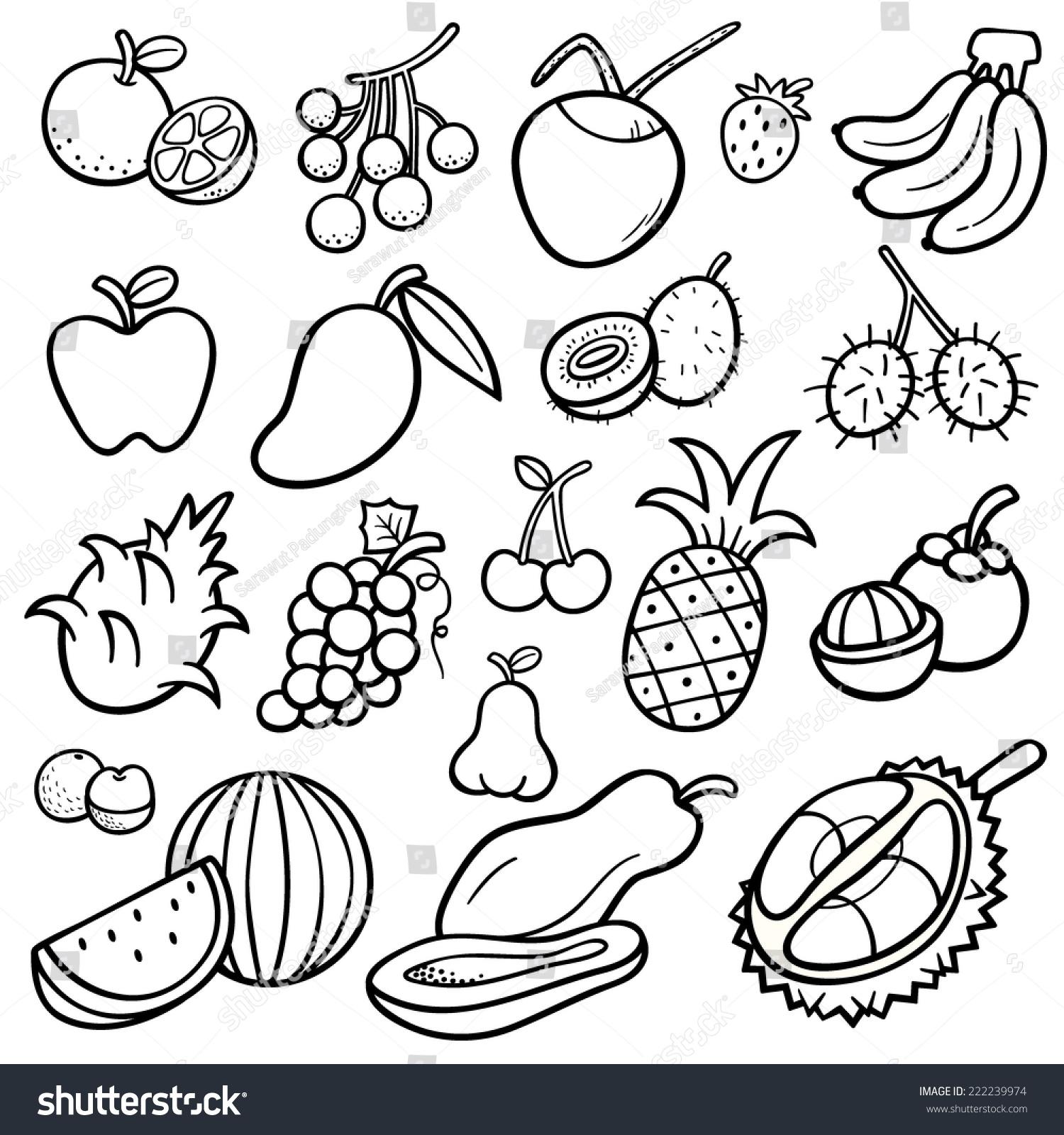 Vector Illustration of Fruits set -… Stock Photo 222239974 - Avopix.com