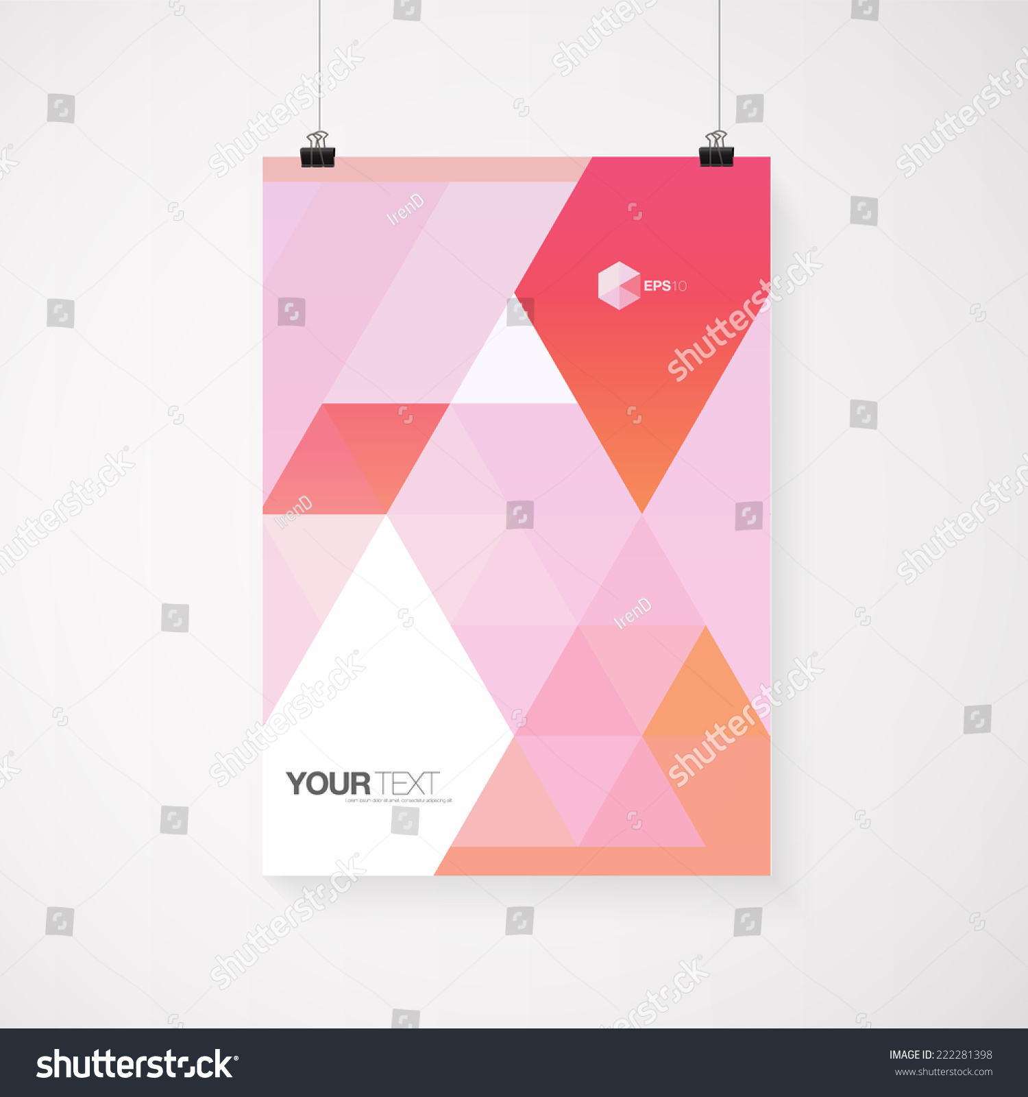 A4 A3 Format Poster Design Your Stock Vector 222281398
