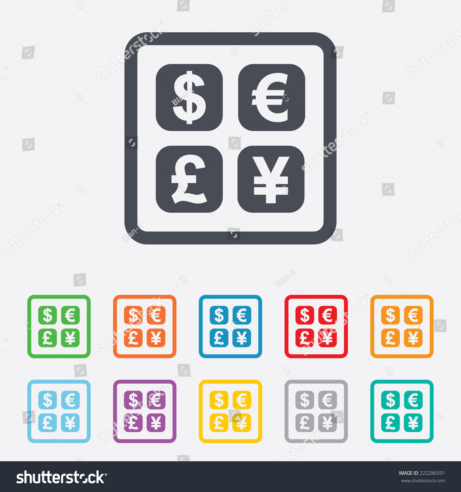 Currency exchange sign icon currency converter stock illustration currency exchange sign icon currency converter symbol money label round squares buttons with biocorpaavc Gallery