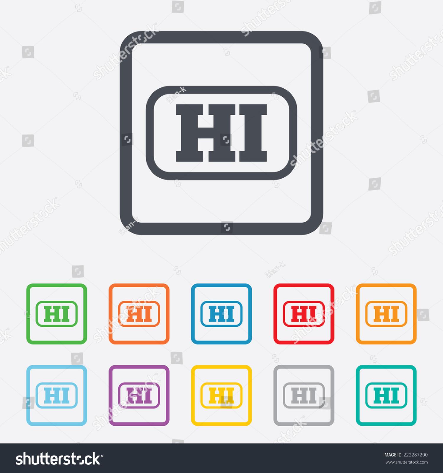 Hindi Language Sign Icon Hi India Stock Illustration 222287200