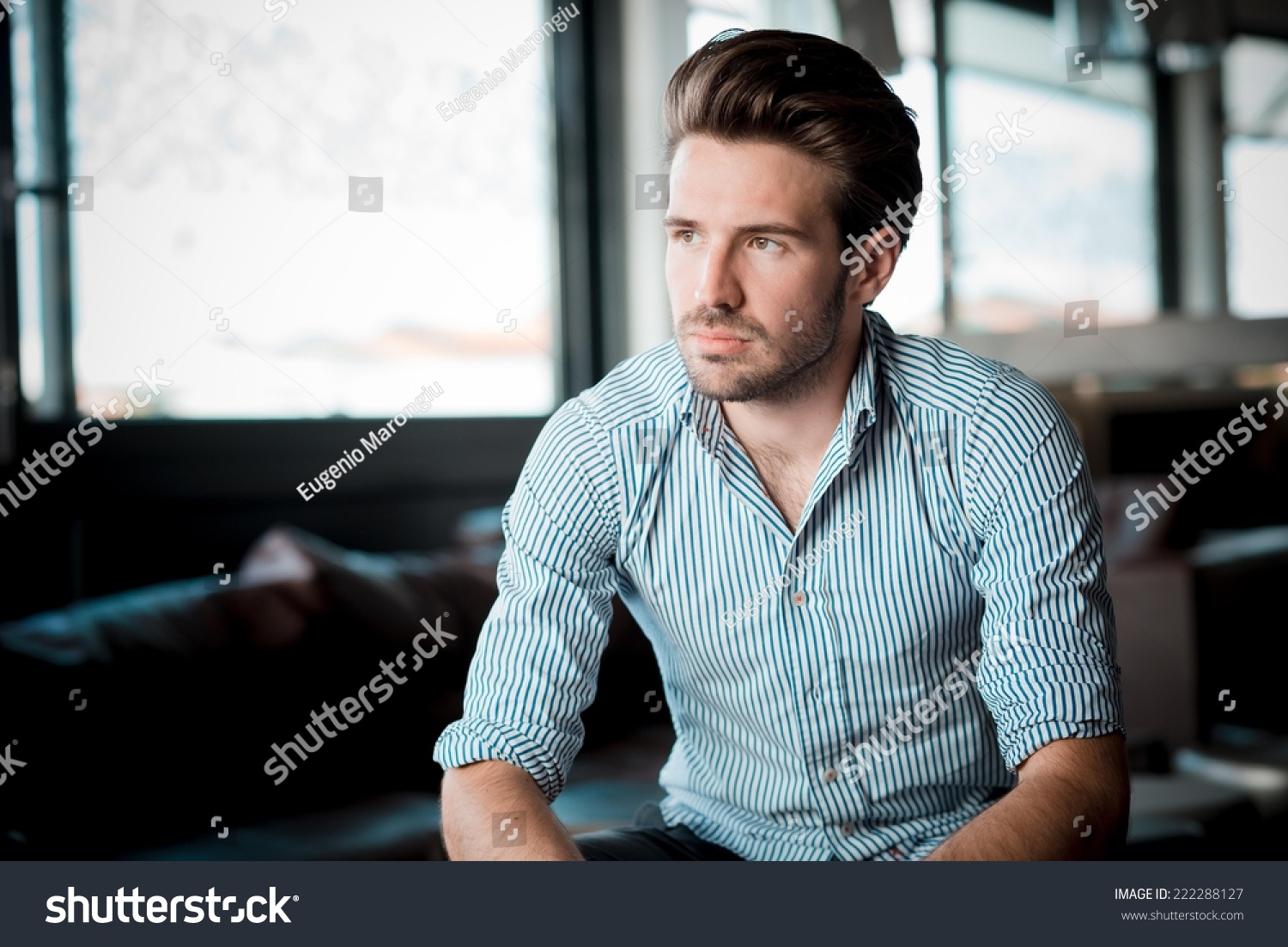 Young Handsome Hipster Modern Man Outdoor Stock Photo ...