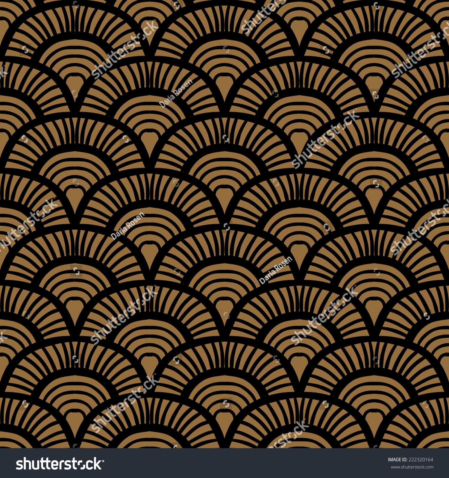 vintage hand drawn art deco pattern stock vector 222320164 shutterstock. Black Bedroom Furniture Sets. Home Design Ideas