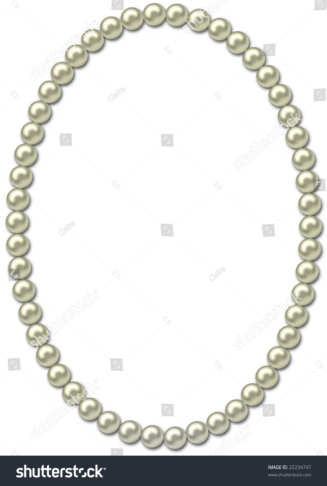 pearl frame necklace