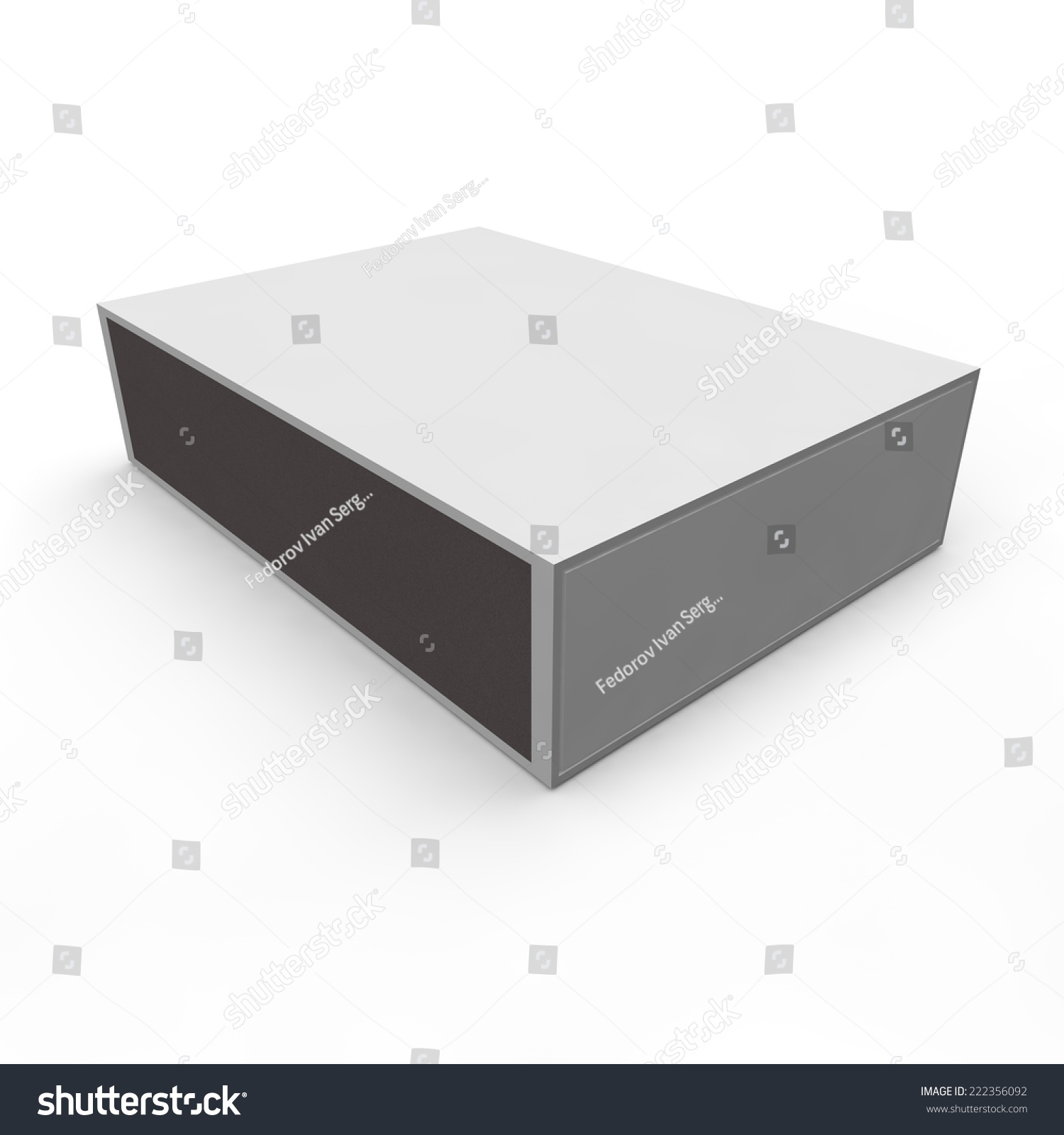 Template Empty Matchbox Isolated White Background Stock Illustration ...