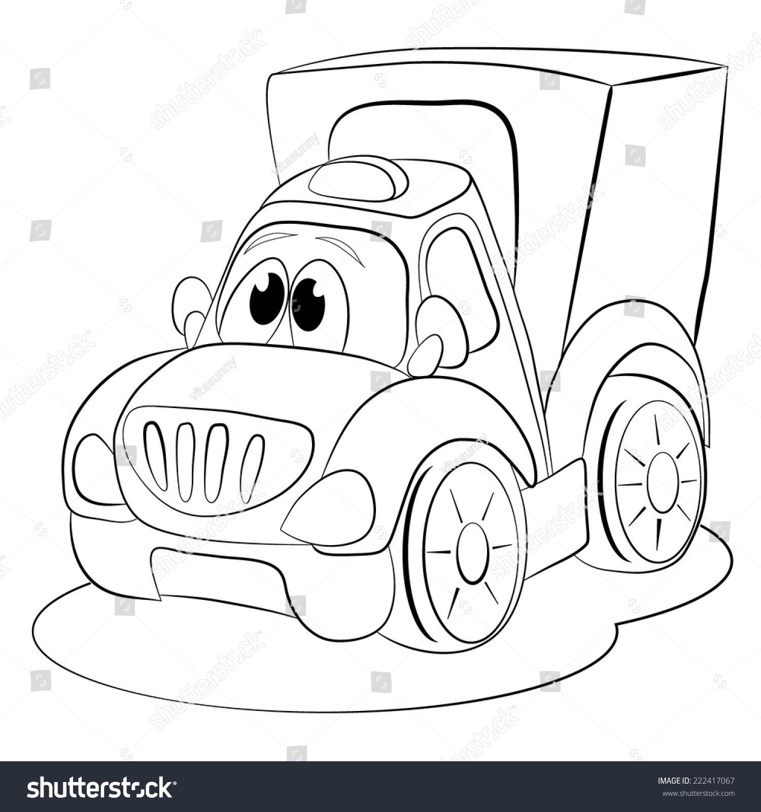 The coloring book race relations - Coloring Book Cartoon Funny Car Van