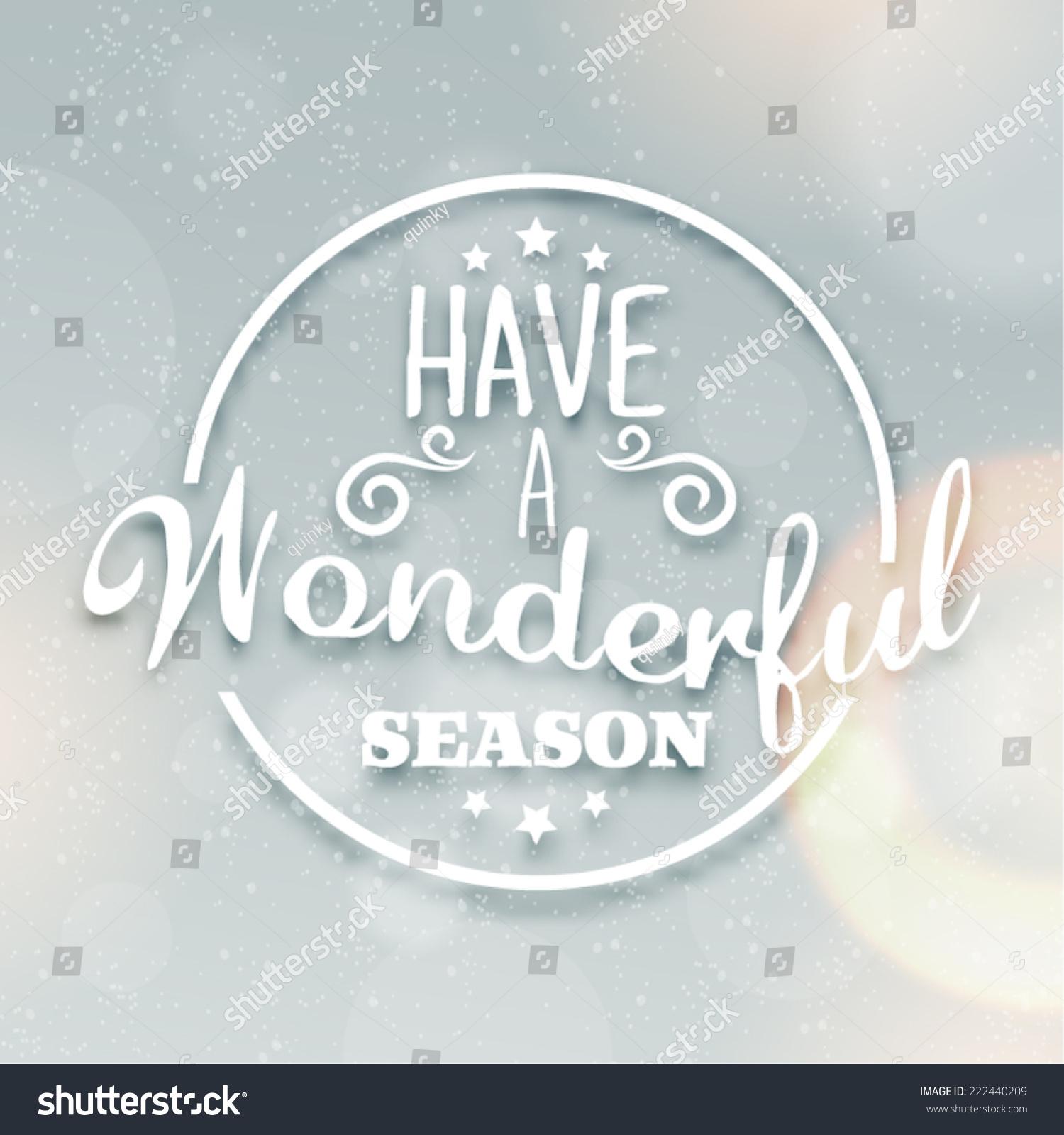 Merry Christmas Season Greetings Quote Vector Stock Vector Royalty
