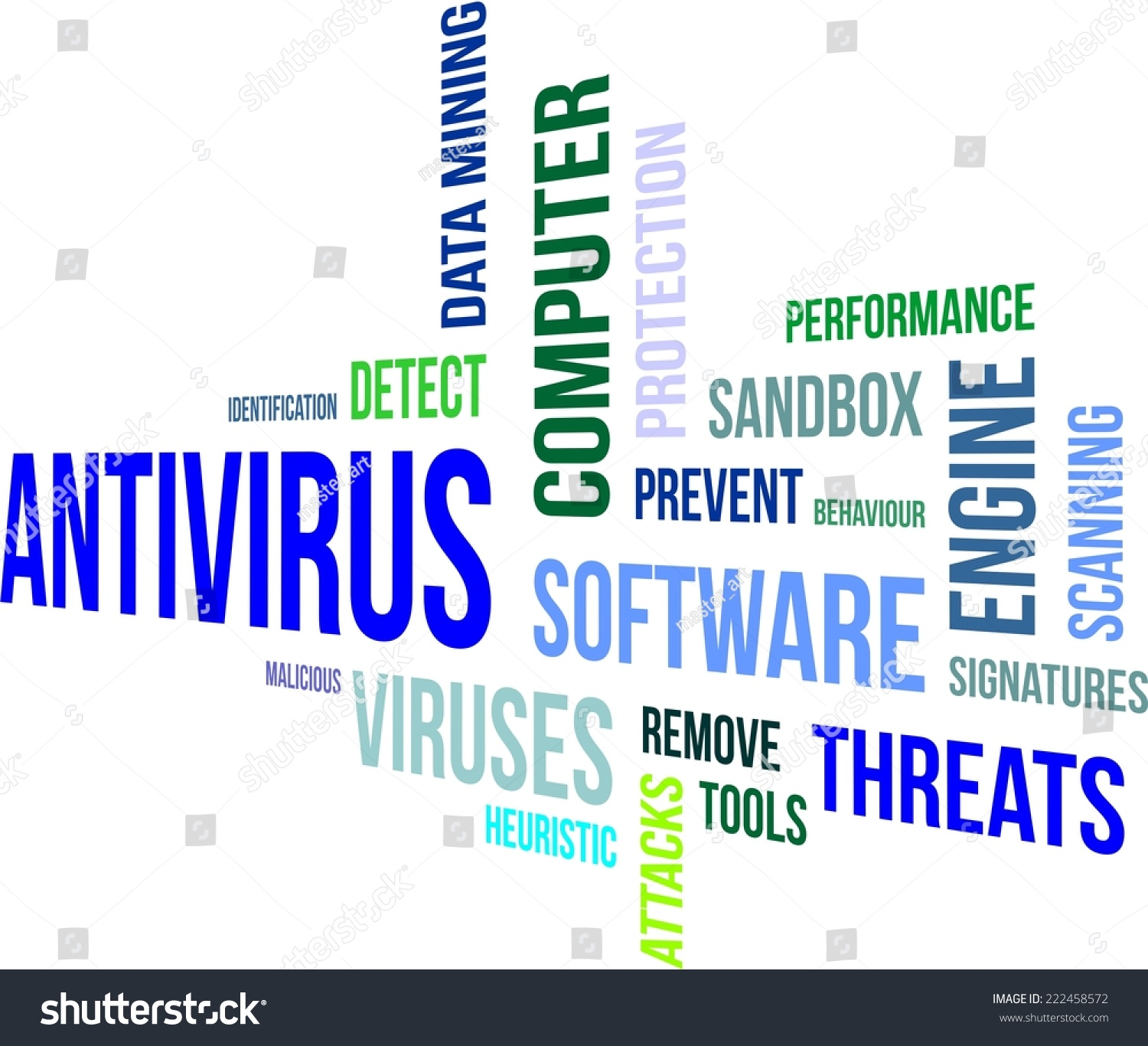 Viral Word: A Word Cloud Of Anti Virus Related Items Stock Vector