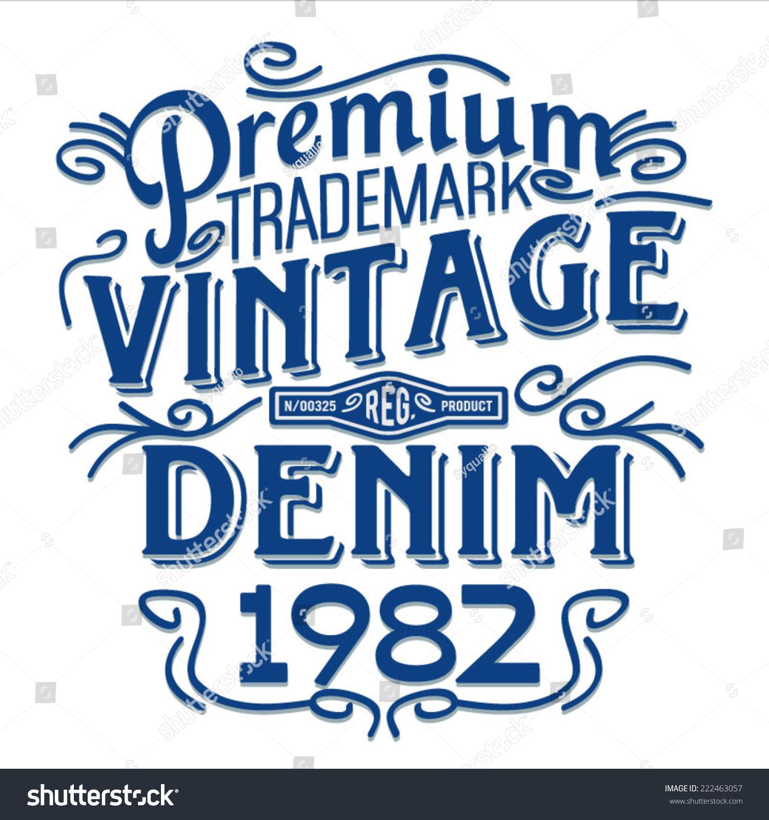Vintage Typography T Shirt Illustration Denim Retro