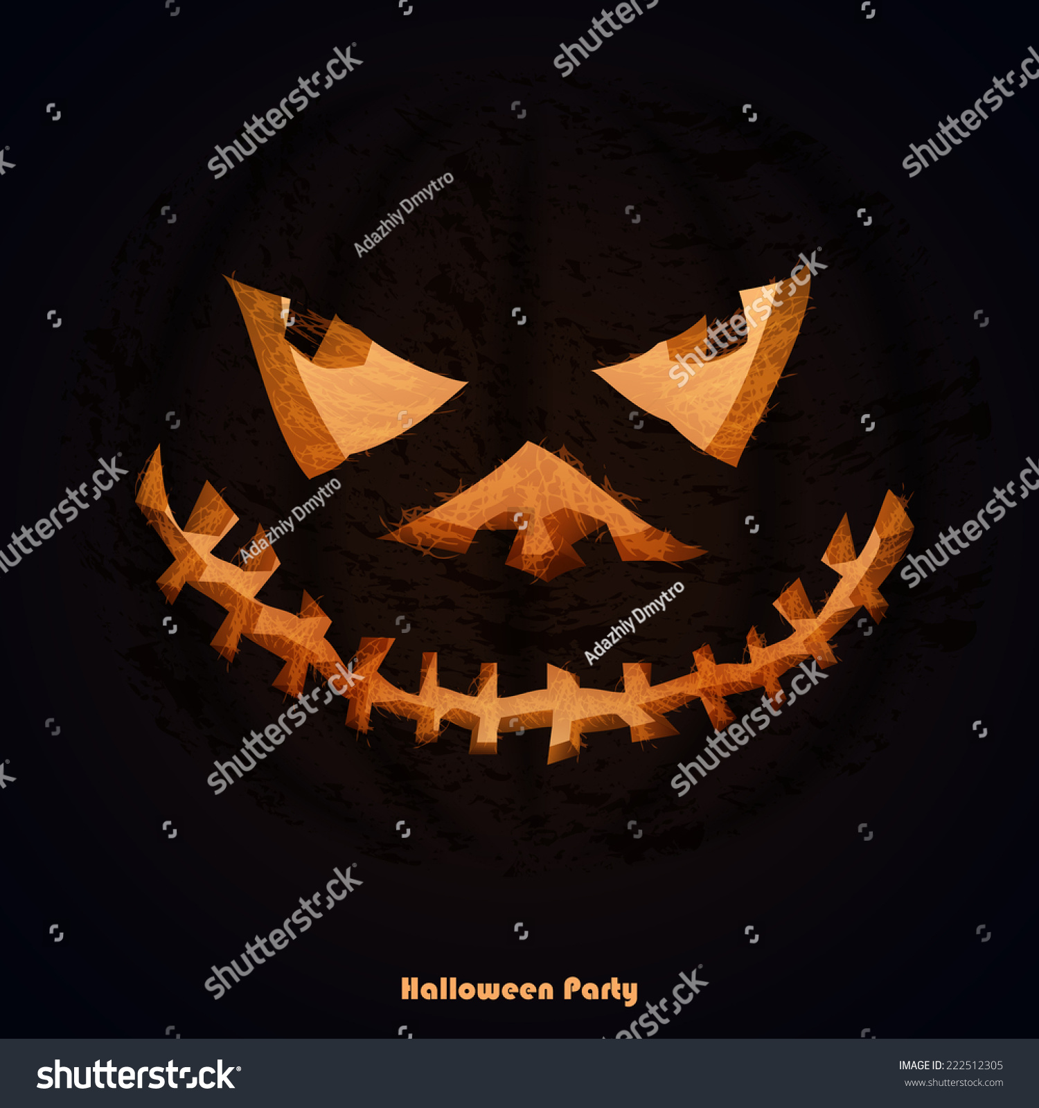 Scary Halloween Pumpkins Party Invitations Space Stock Vector ...