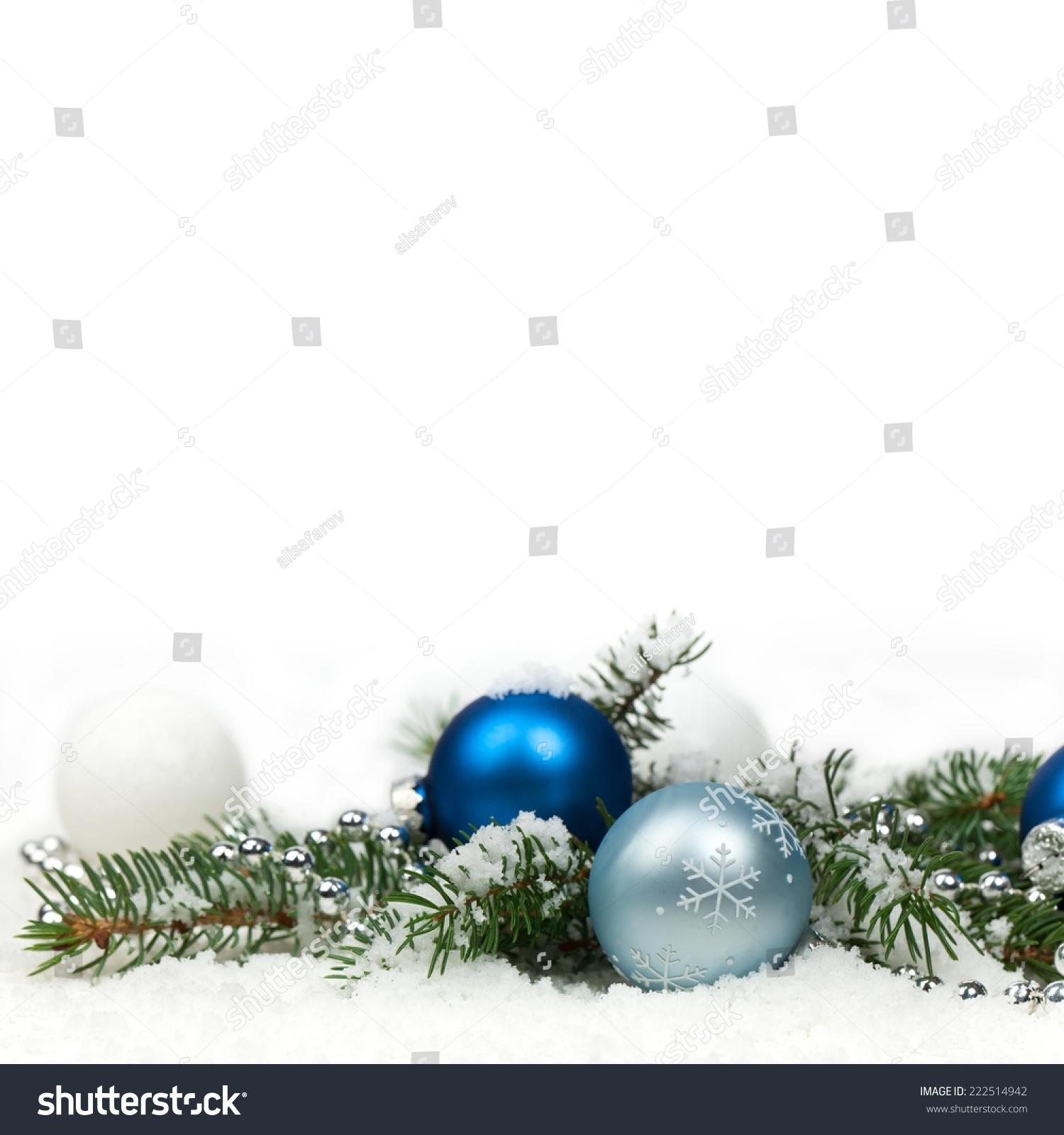 Christmas Decorations Isolated On White Background Stock Photo (Edit ...