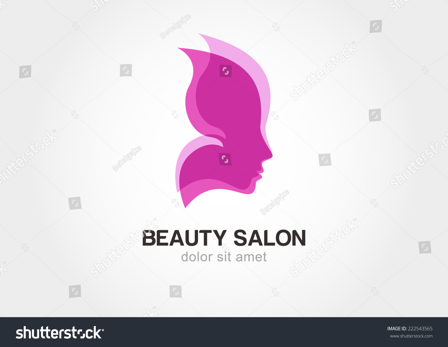 Womans face pink butterfly wings abstract stock vector for Abstract beauty salon