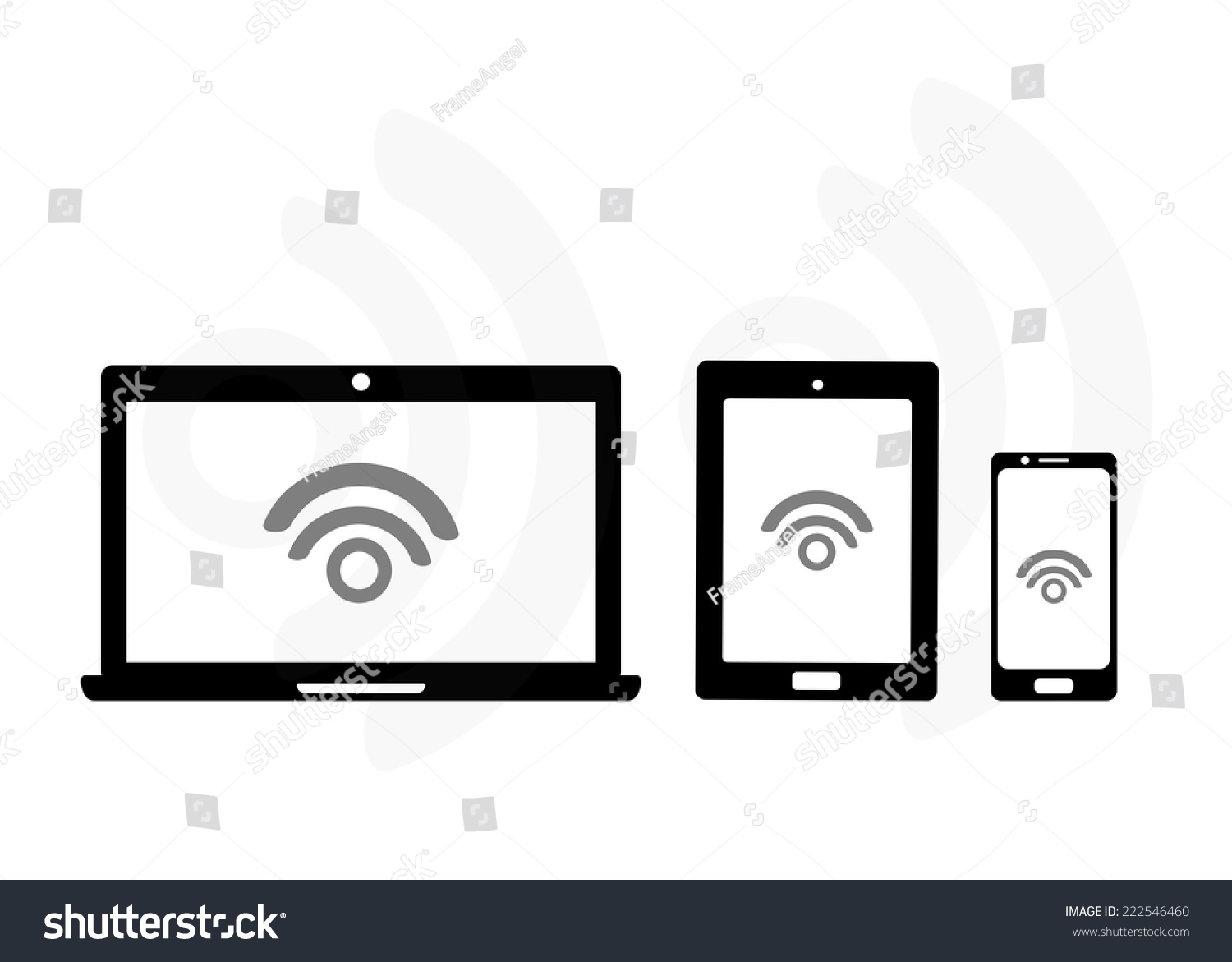 Mobile Device Set Icon Transfer Data Stock Vector ...
