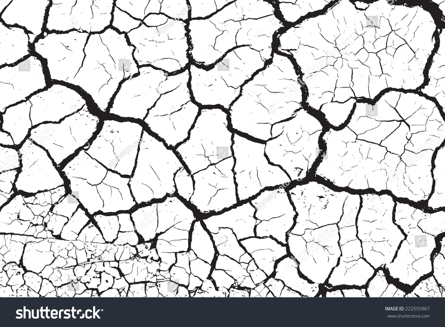 Dry cracked earth texture, vector… Stock Photo 222555967