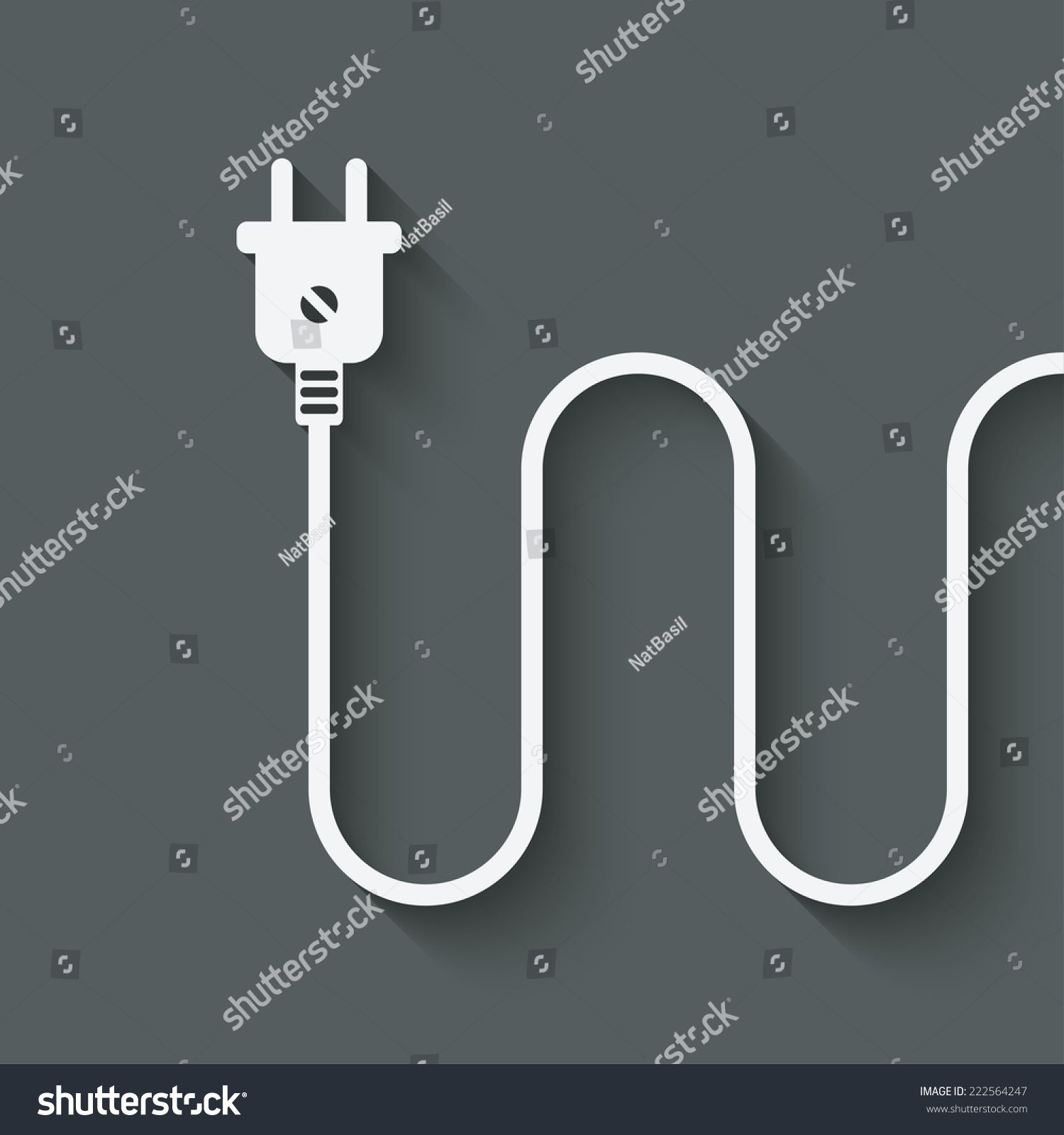 Electric Wire Plug Vector Illustration Eps Stock Vector (Royalty ...