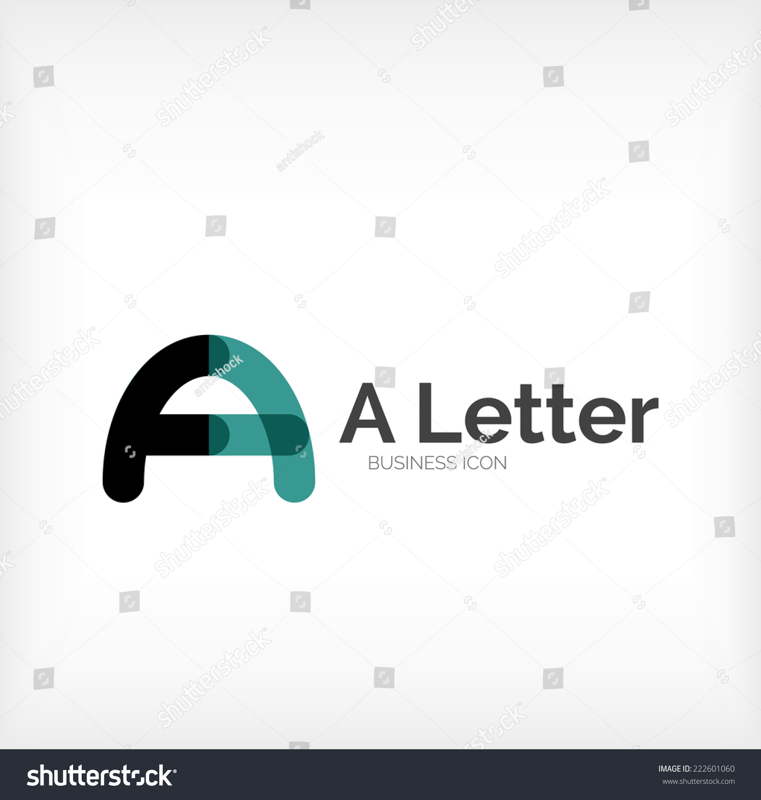 Letter Logo Minimal Line Design Business Stock Vector