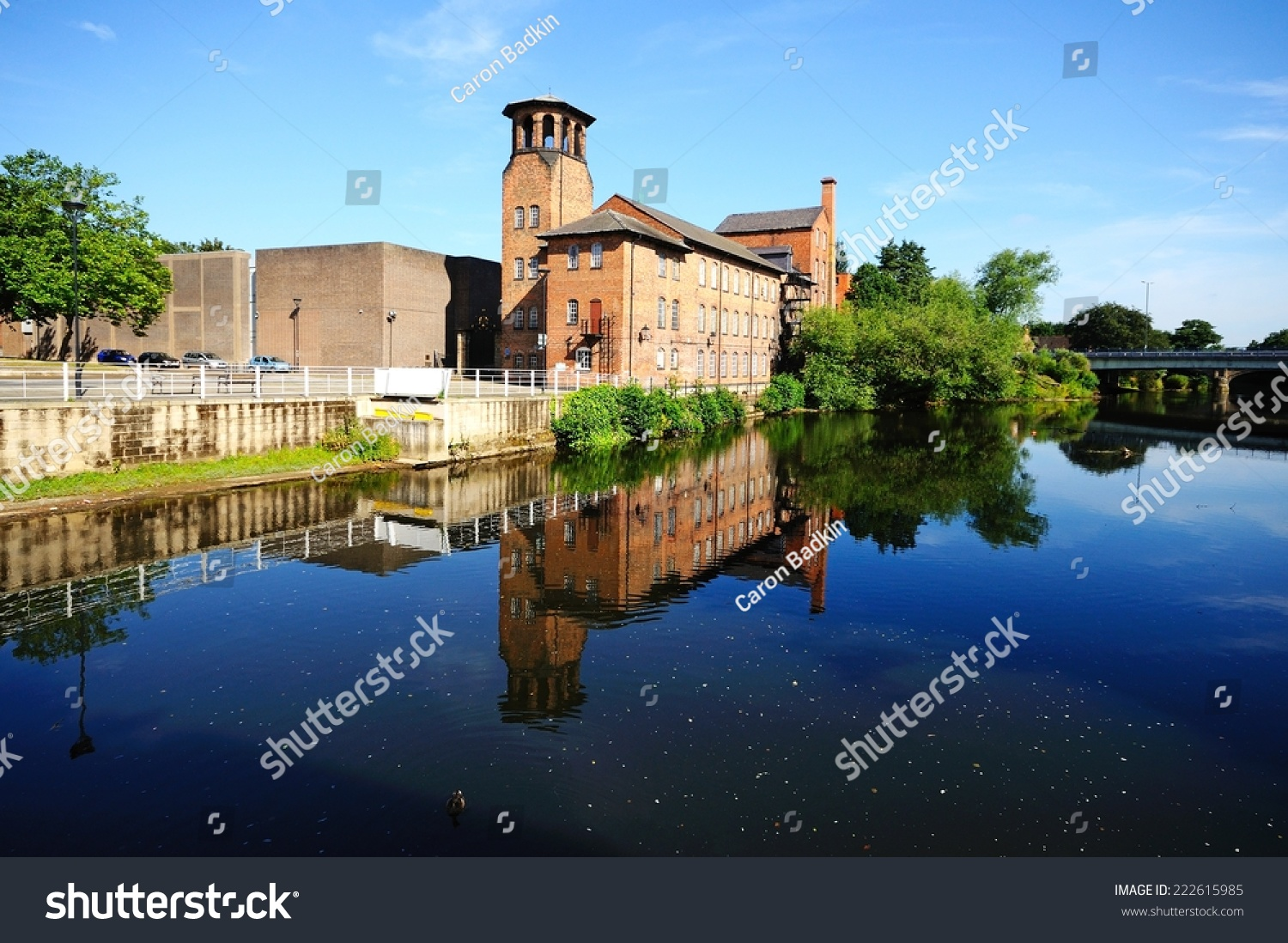 Derby United Kingdom  city photos : DERBY, UNITED KINGDOM JULY 17, 2014 The Silk Mill alongside the ...