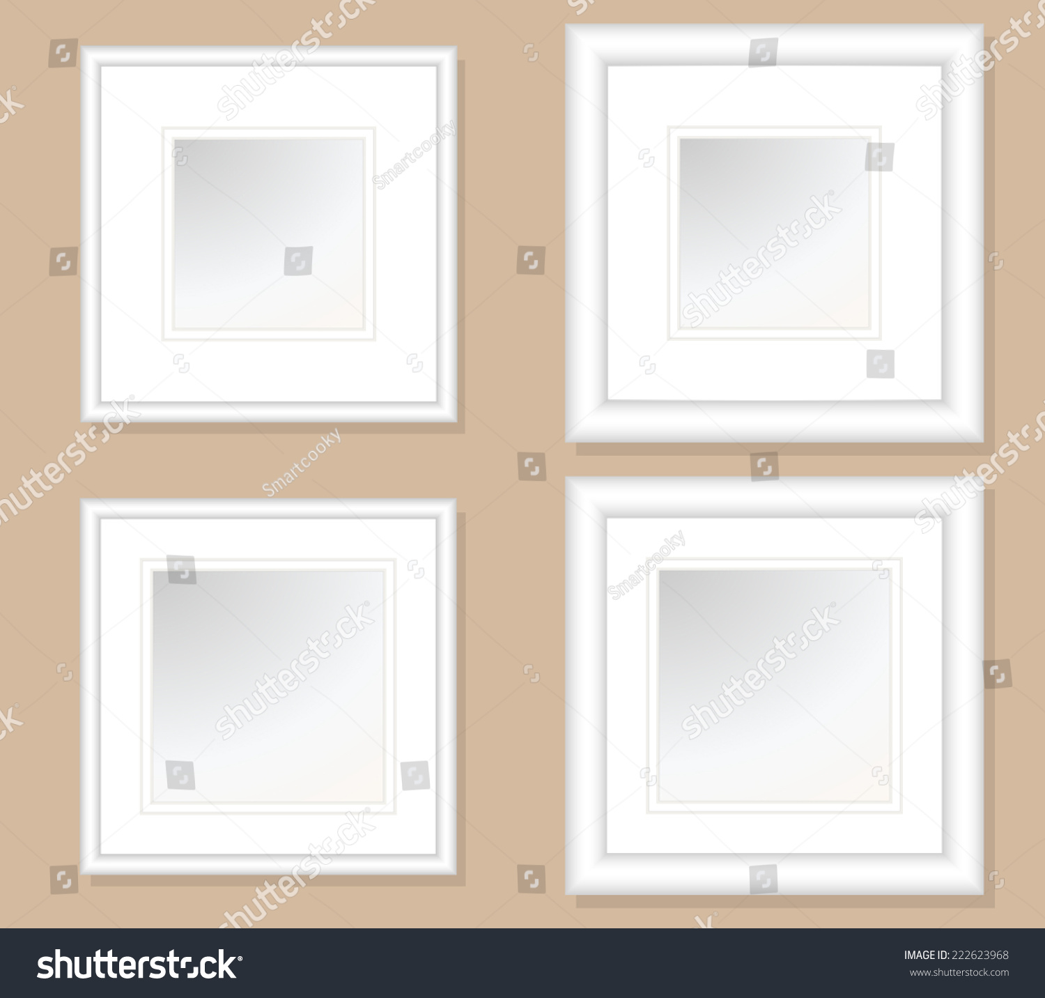 5 X 5 6 X 6 Square Photo Art Frames Stock Vector (Royalty Free ...