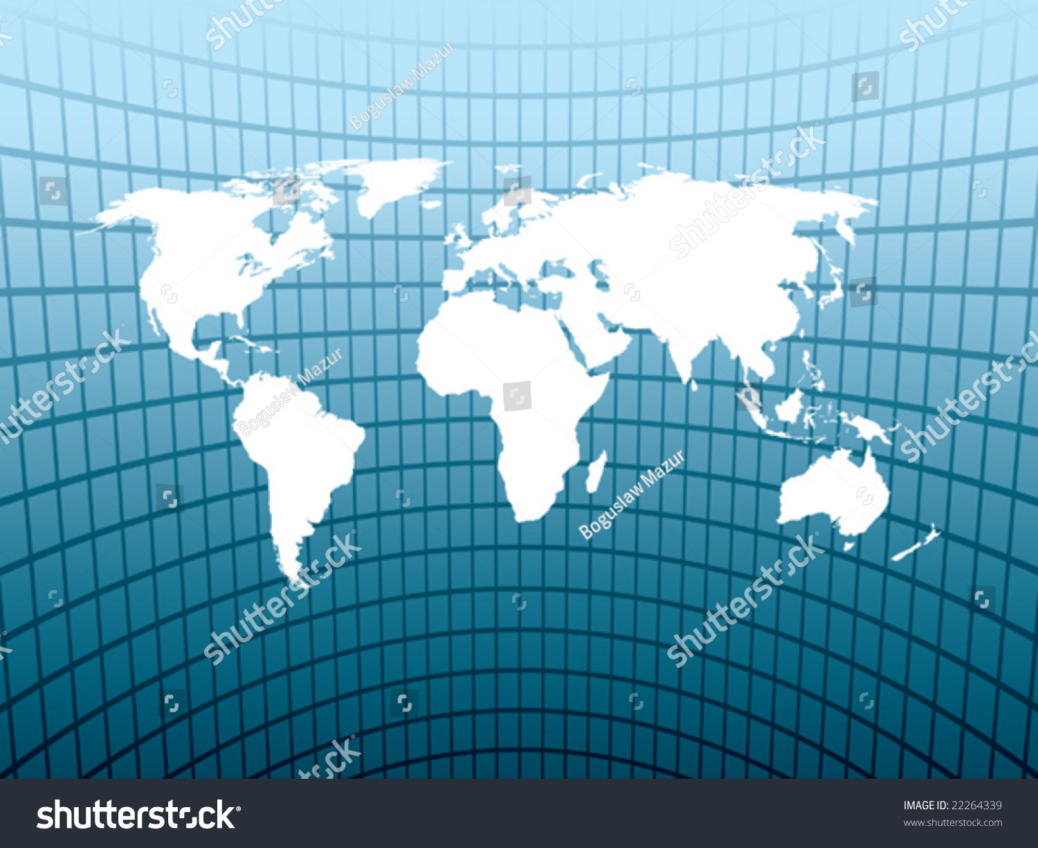 Large World Map On Abstract Blue Stock Vector Shutterstock - Large map of earth