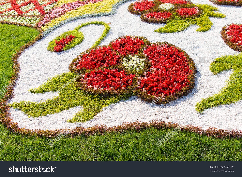 Decorative Flower Display Formal Garden Flowerbed Stock Photo (Edit on formal flower gardens, formal tropical gardens, formal victorian gardens,