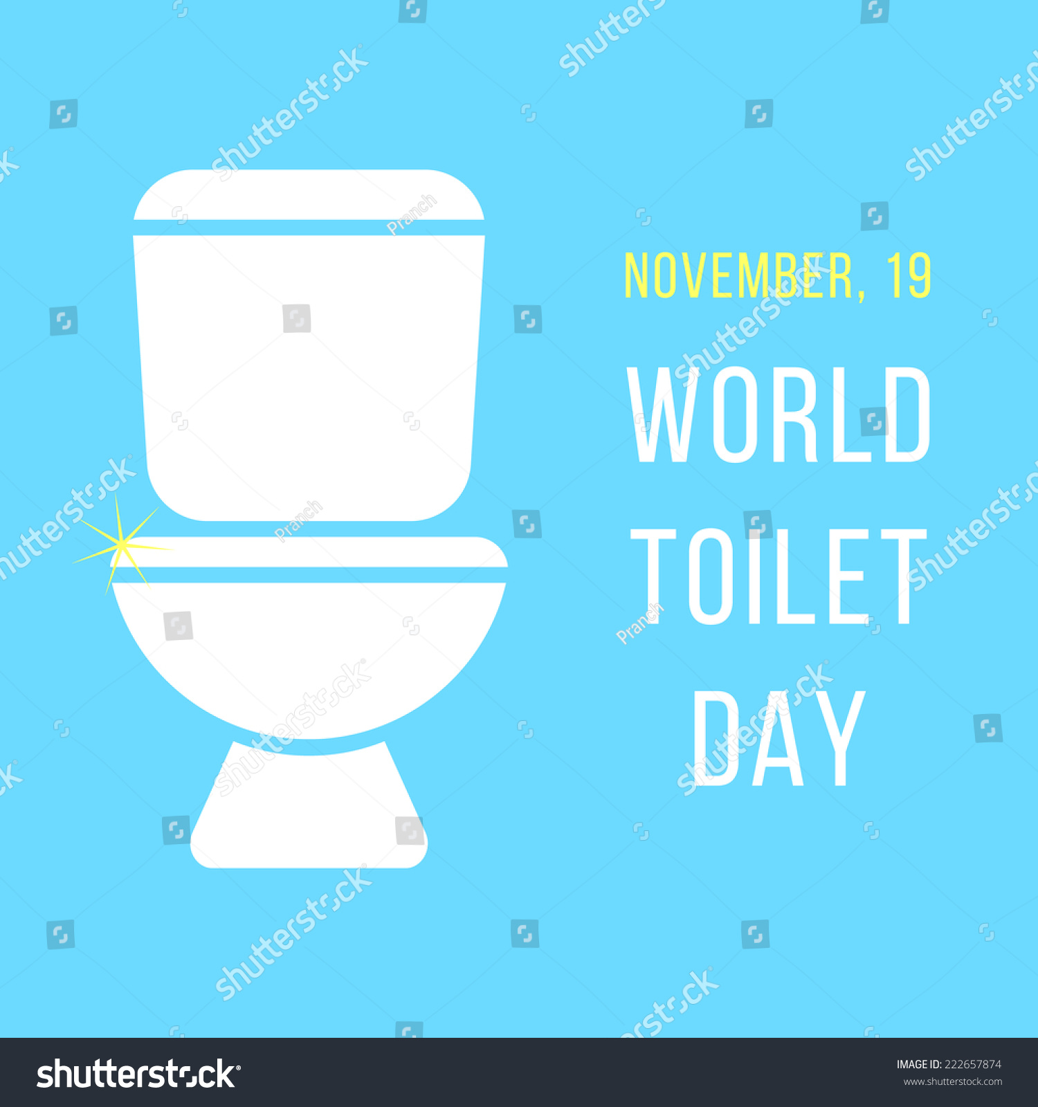 World Day Toilet Bowl Isolated On Stock Vector HD (Royalty Free ...