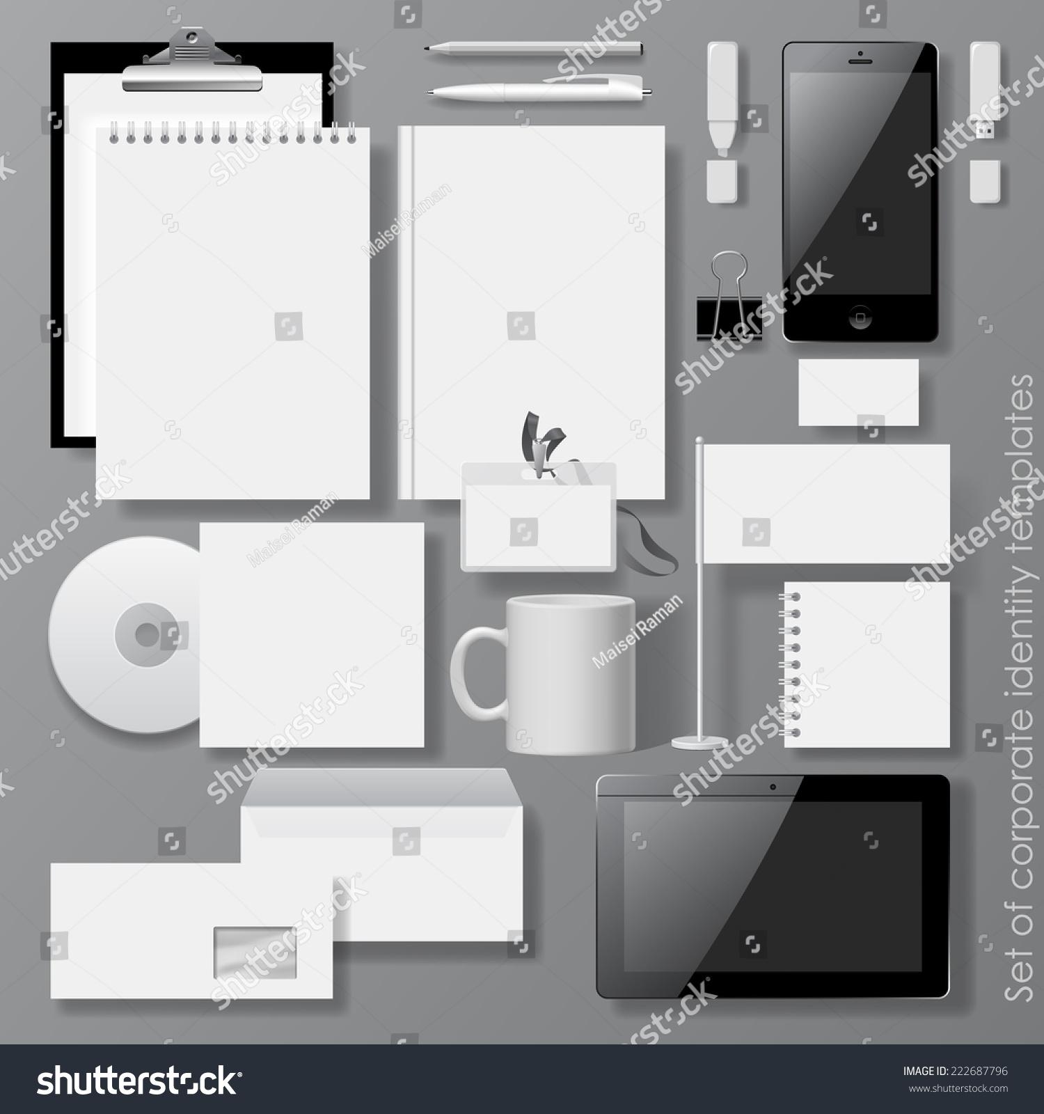 Vector Set White Design Corporate Identity Stock Vector 222687796 ...