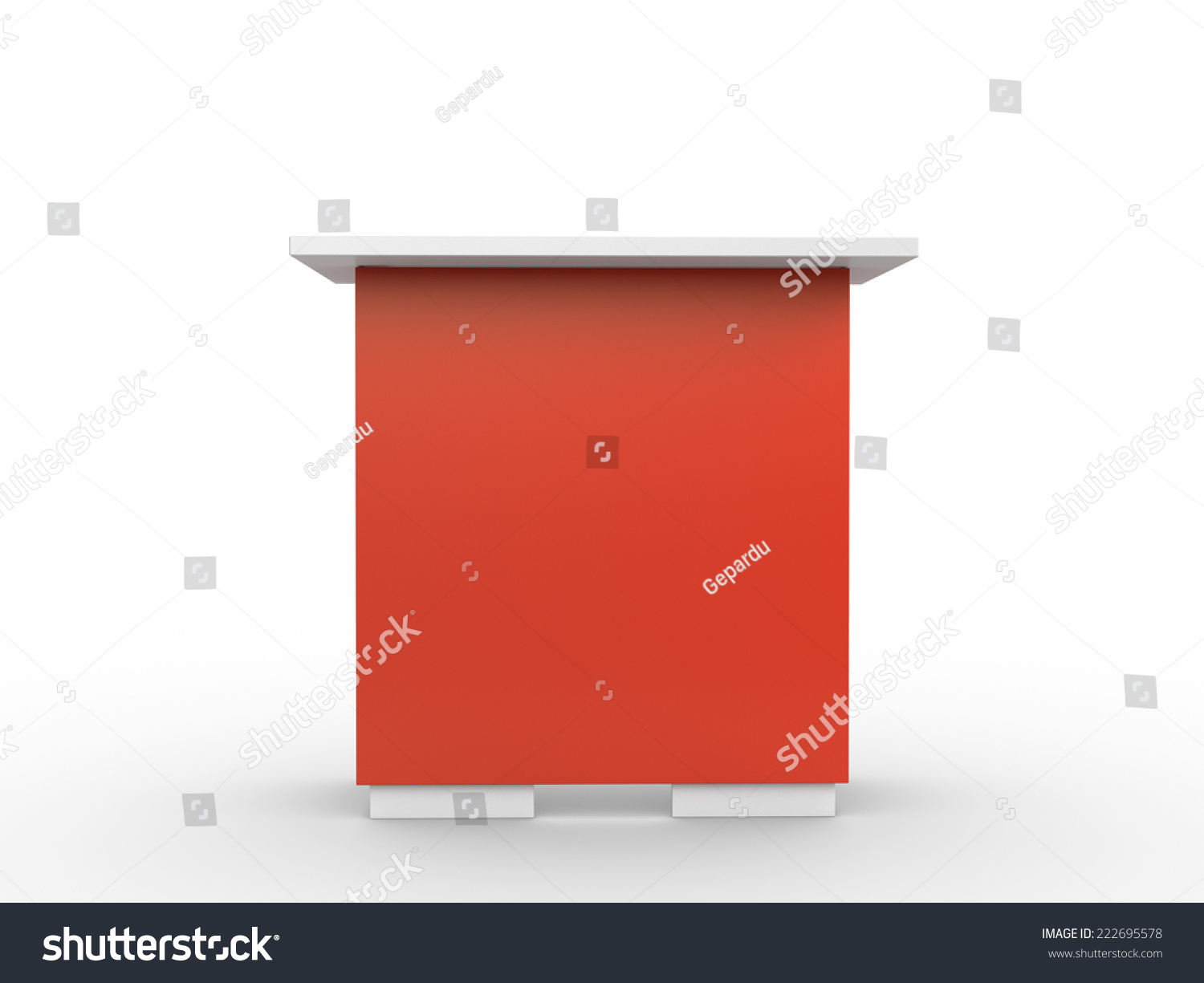 Red Booth Table Fromt Stock Illustration Shutterstock - Booth or table