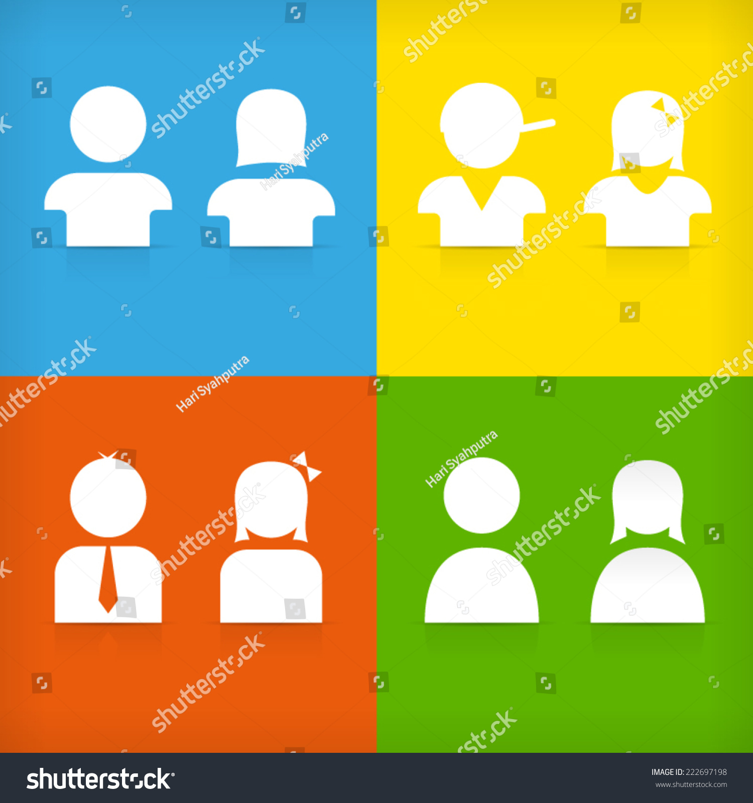 Boy Girl Man Woman Male Female Stock Vector 222697198 - Shutterstock