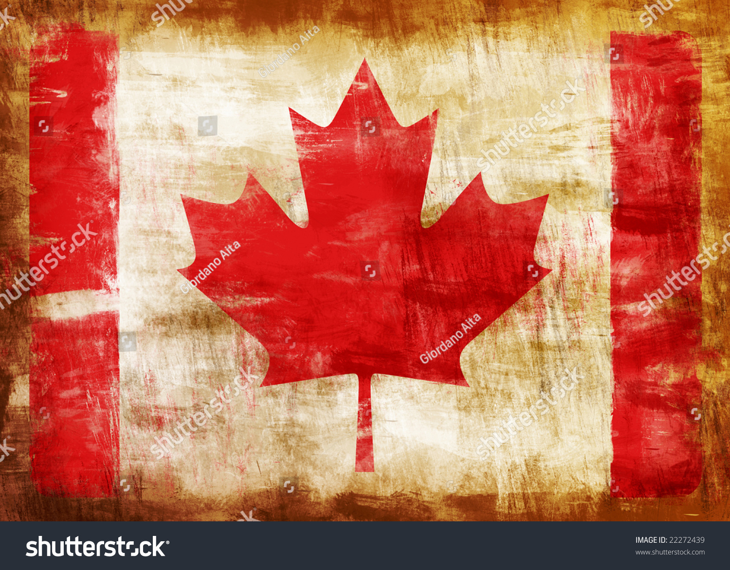 old dirty canada flag painted stock illustration 22272439
