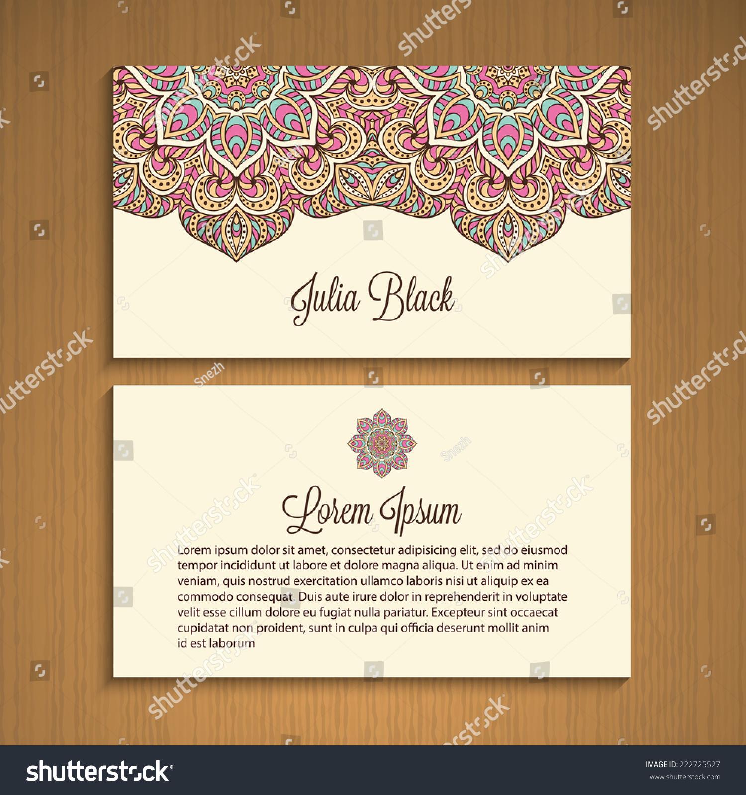 Business card invitation vector background vintage stock vector business card or invitation vector background vintage decorative elements hand drawn background junglespirit Gallery