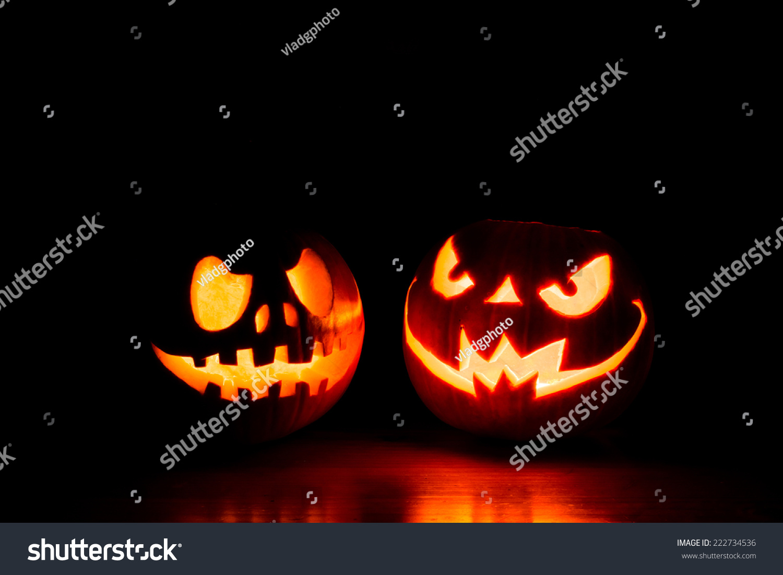 scary halloween pumpkins isolated on black stock photo edit now rh shutterstock com