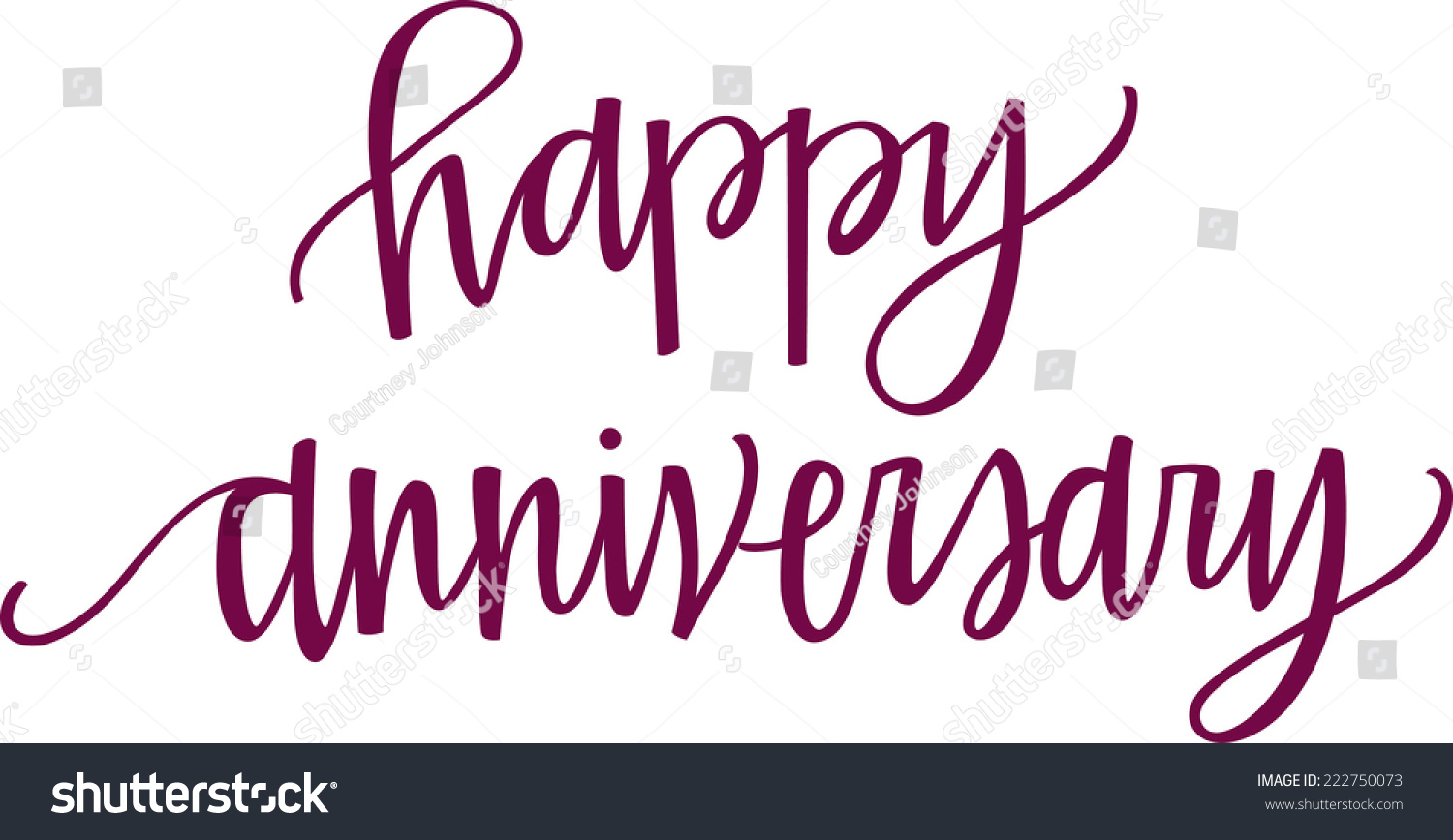 Stock Vector Hand Lettered Happy Anniversary on Free Printable Happy Birthday Signs