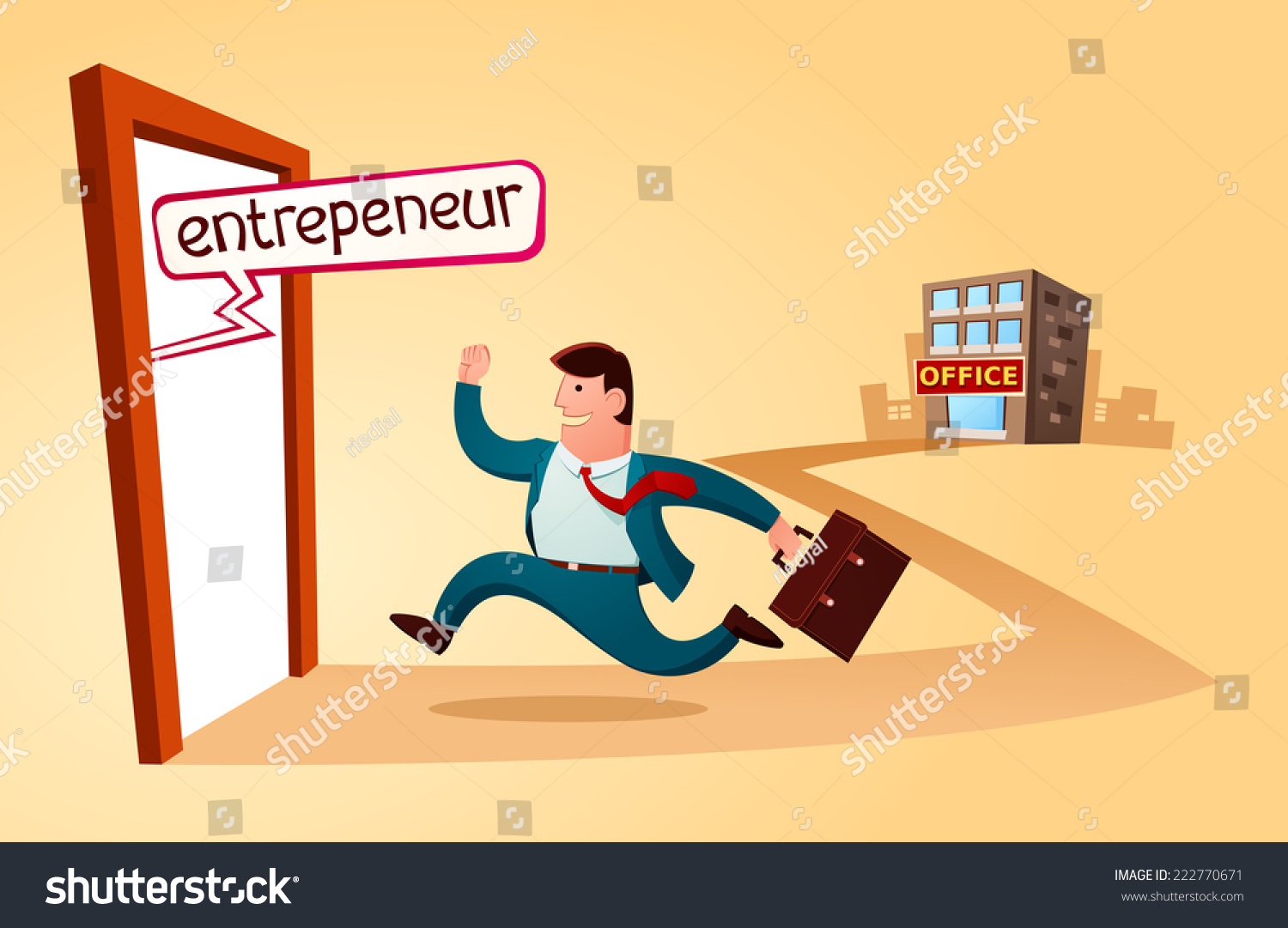 resign old job start build business stock vector  resign from the old job and start to build business