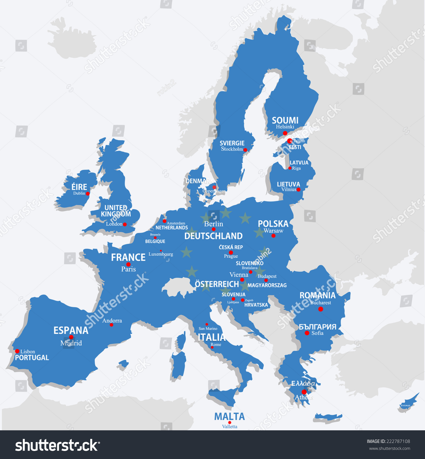 Picture of: Vector De Stock Libre De Regalias Sobre European Union Map All Europe Countries222787108