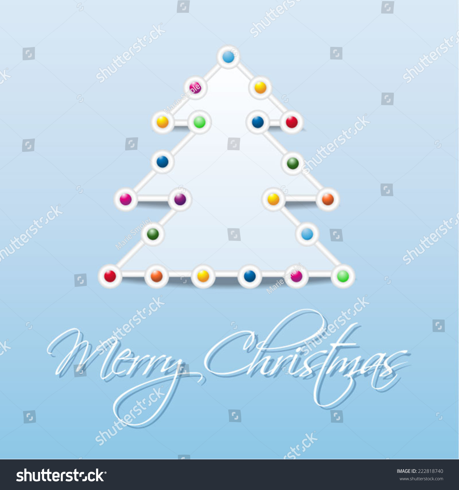 Vector Nice Modern Simply Christmas Card Stock Vector 222818740