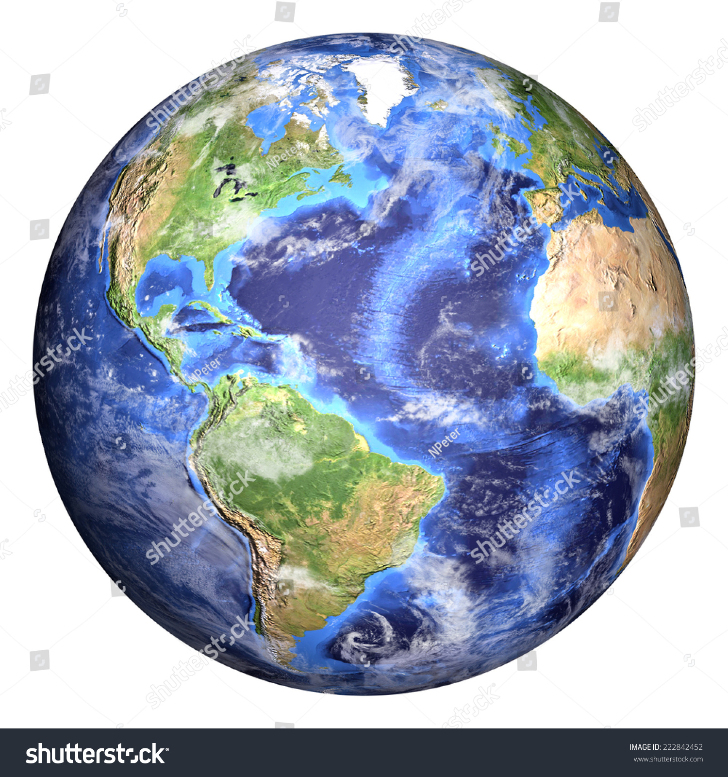 Planet Earth Some Clouds Americas View Stock Photo ...