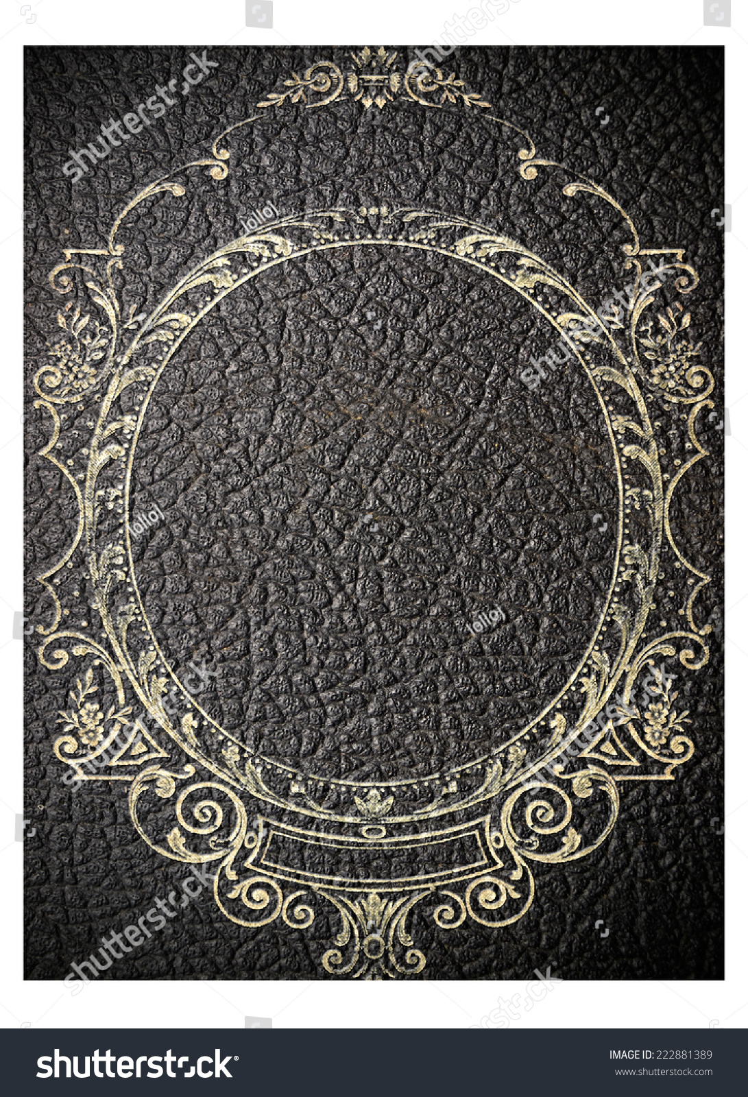 Black Leather Book Cover : Isolated old black leather book cover stock illustration