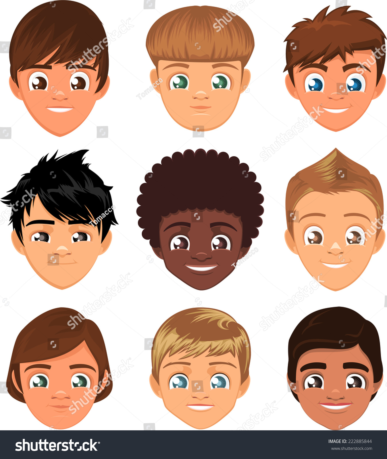 how to create a teen boys face drawing