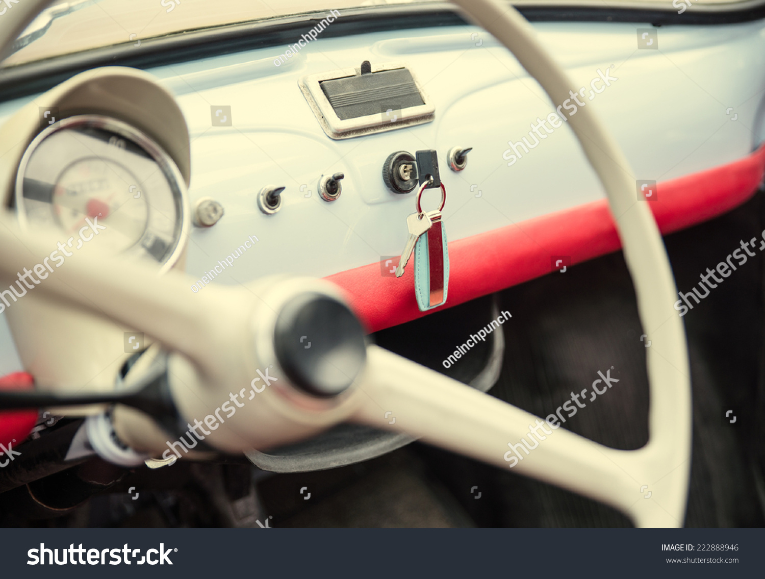 old vintage car interiors view stock photo 222888946 shutterstock. Black Bedroom Furniture Sets. Home Design Ideas