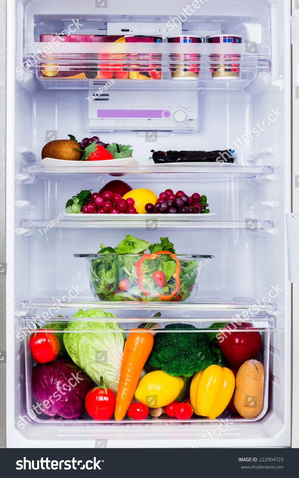 Inside The Healthy Refrigerator With Fruits And Vegetable