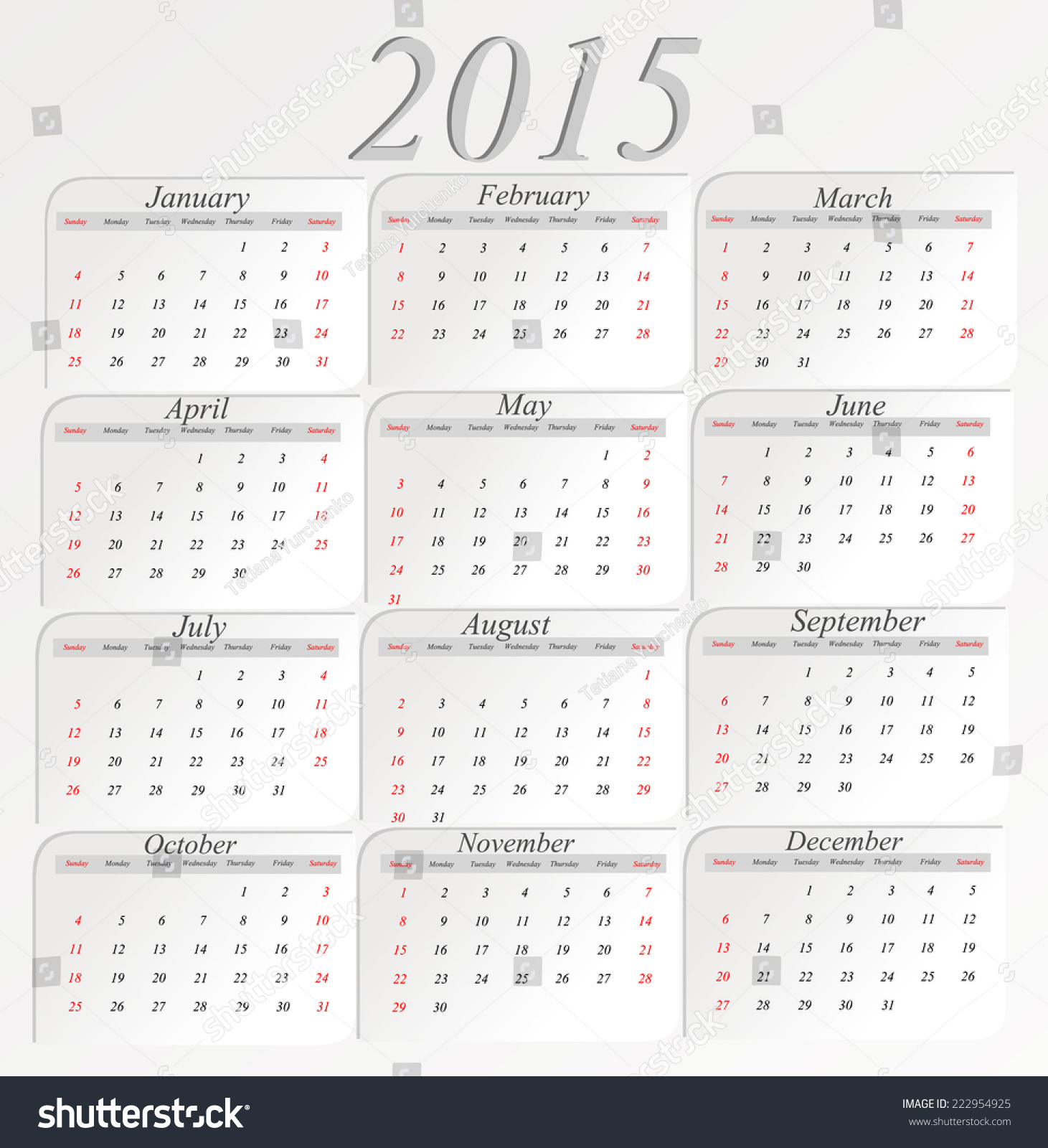 Vertical Calendar Design : Calendar design vertical stock