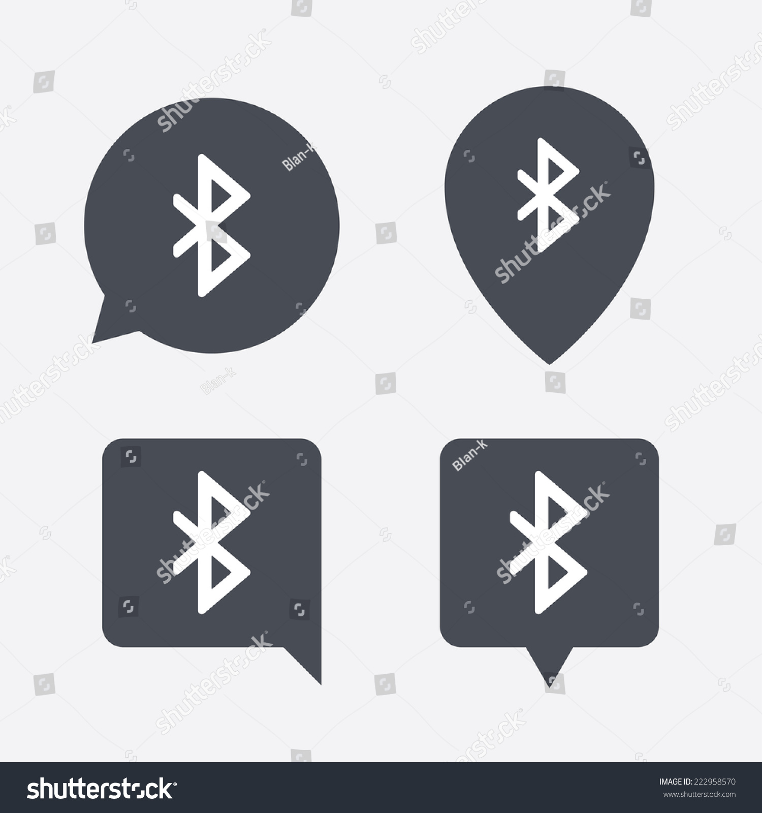 Bluetooth Sign Icon Mobile Network Symbol Stock Illustration
