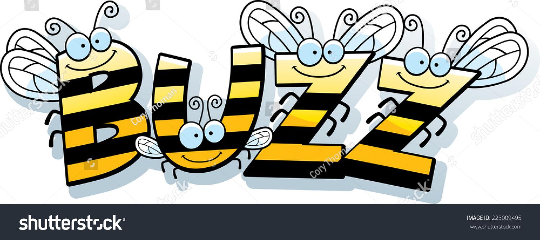 Buzzing bee clipart