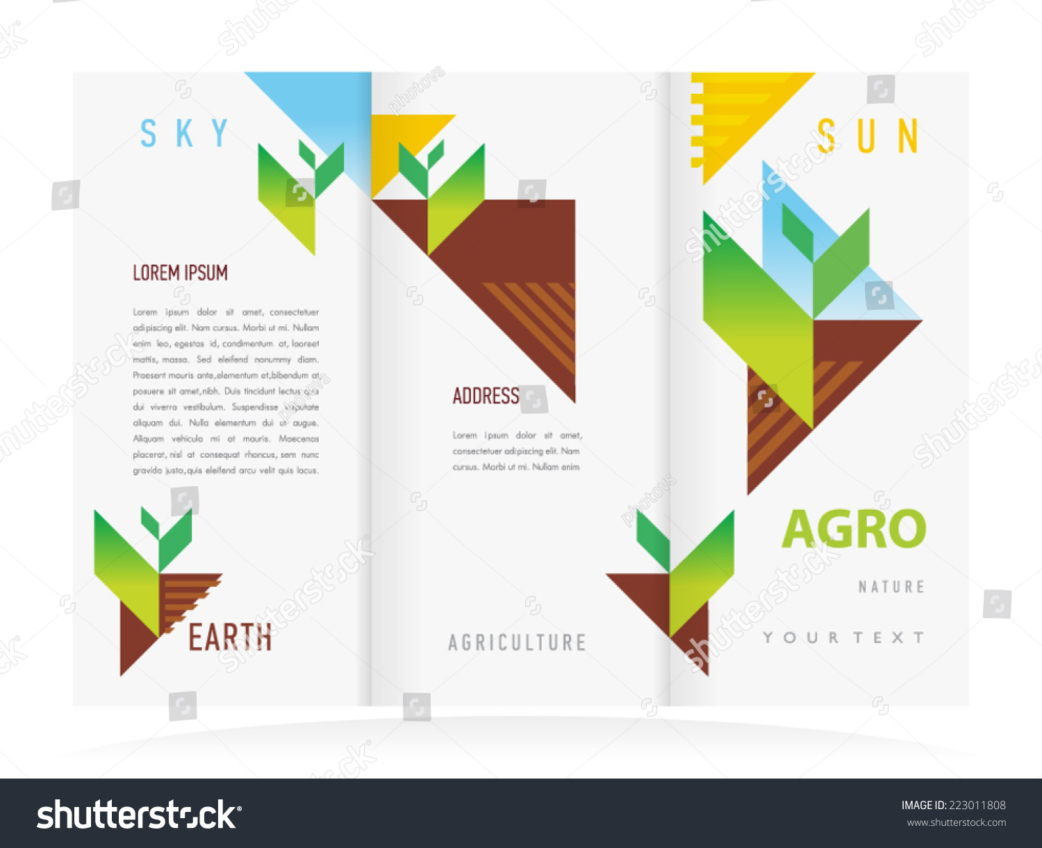 agriculture brochure templates - brochure design template vector trifold agriculture lager