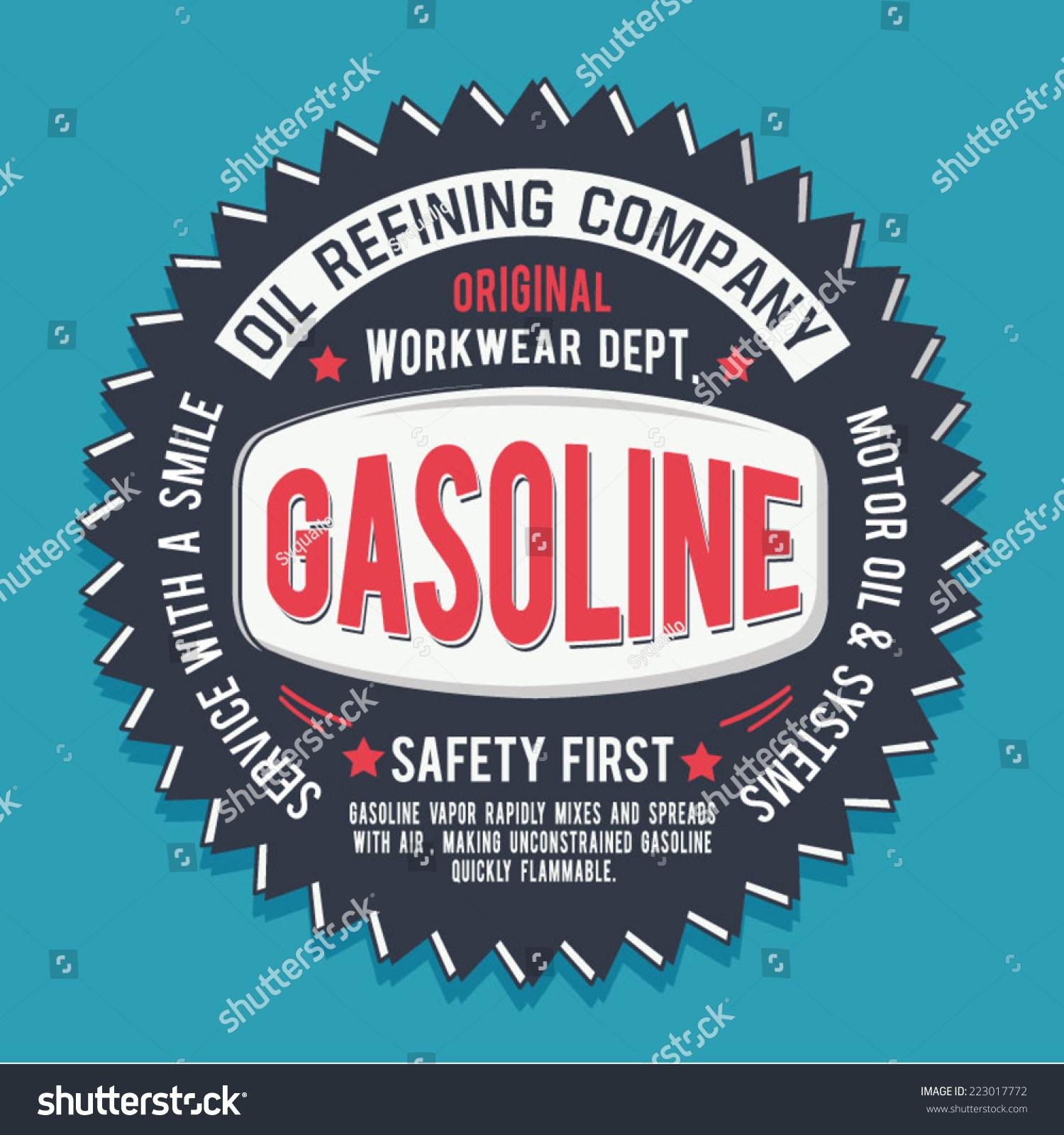 Design t shirt vintage - Vintage Gasoline Oil Design T Shirt Typography Vintage