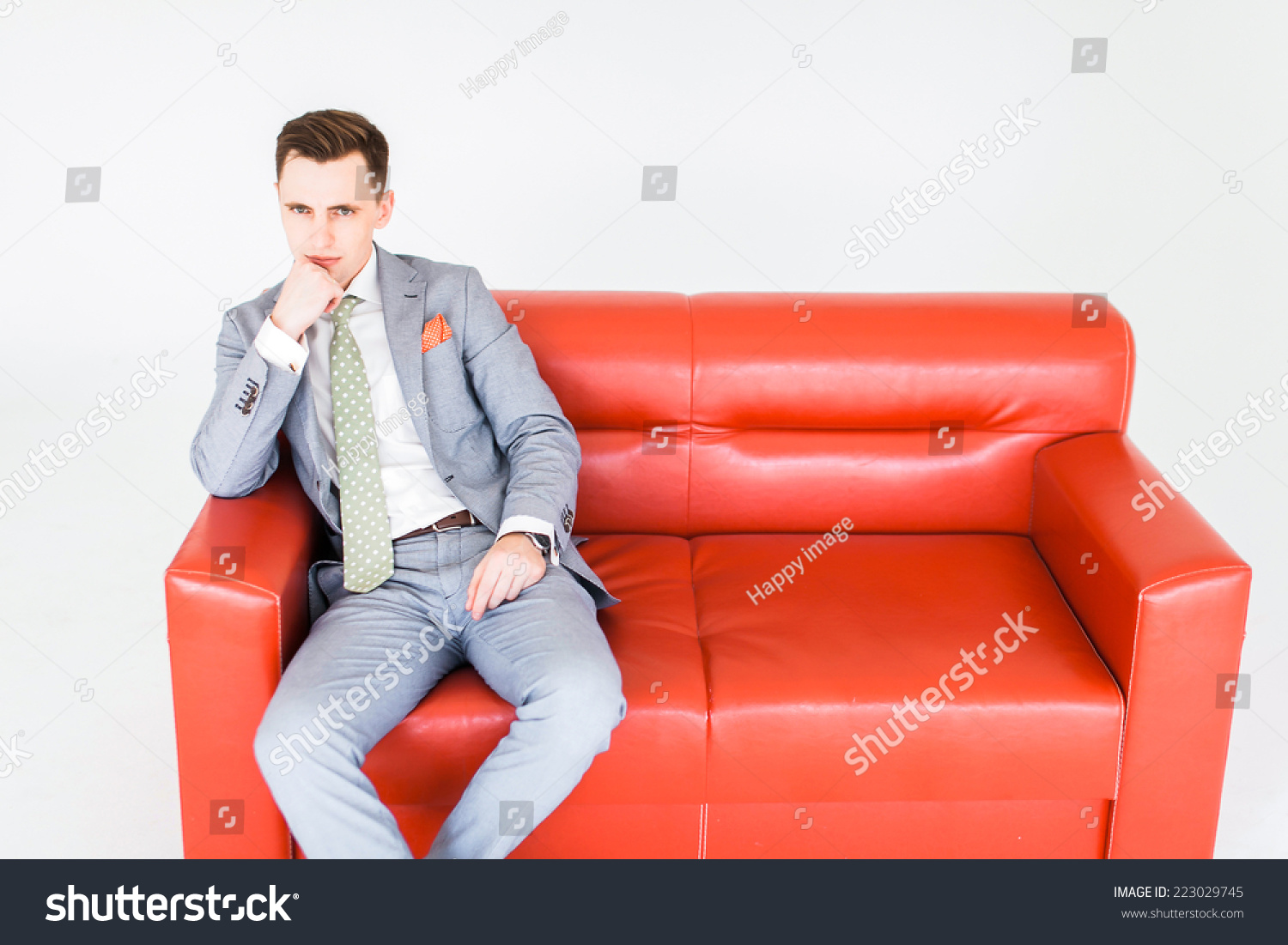 Pleasing Businessman Lying Asleep On Couch On Stock Photo Edit Now Unemploymentrelief Wooden Chair Designs For Living Room Unemploymentrelieforg