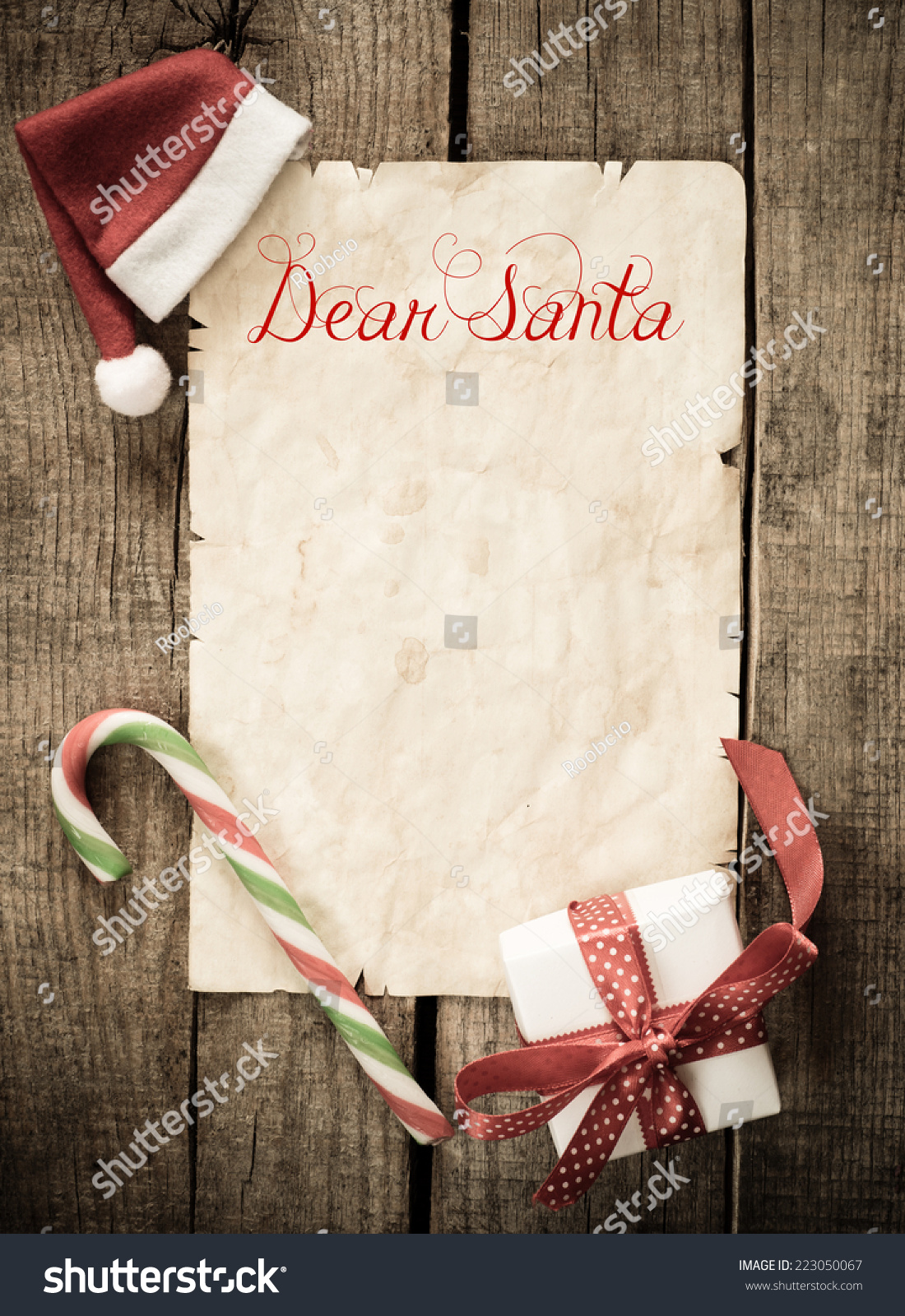 Child Letter Santa Claus Christmas Decorations Stock Photo Edit Now