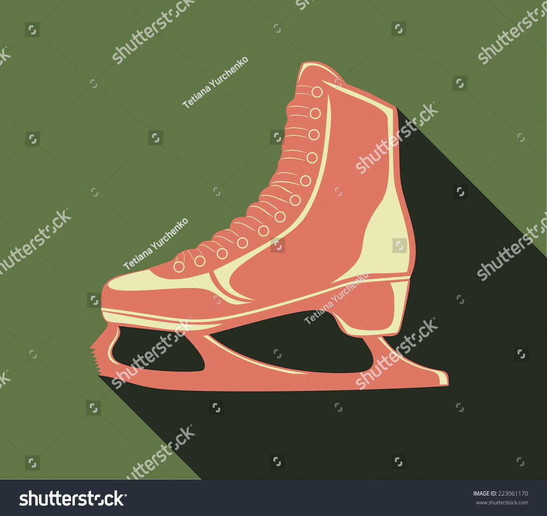 Roller skates for figure skating - Skates For Figure Skating Vector